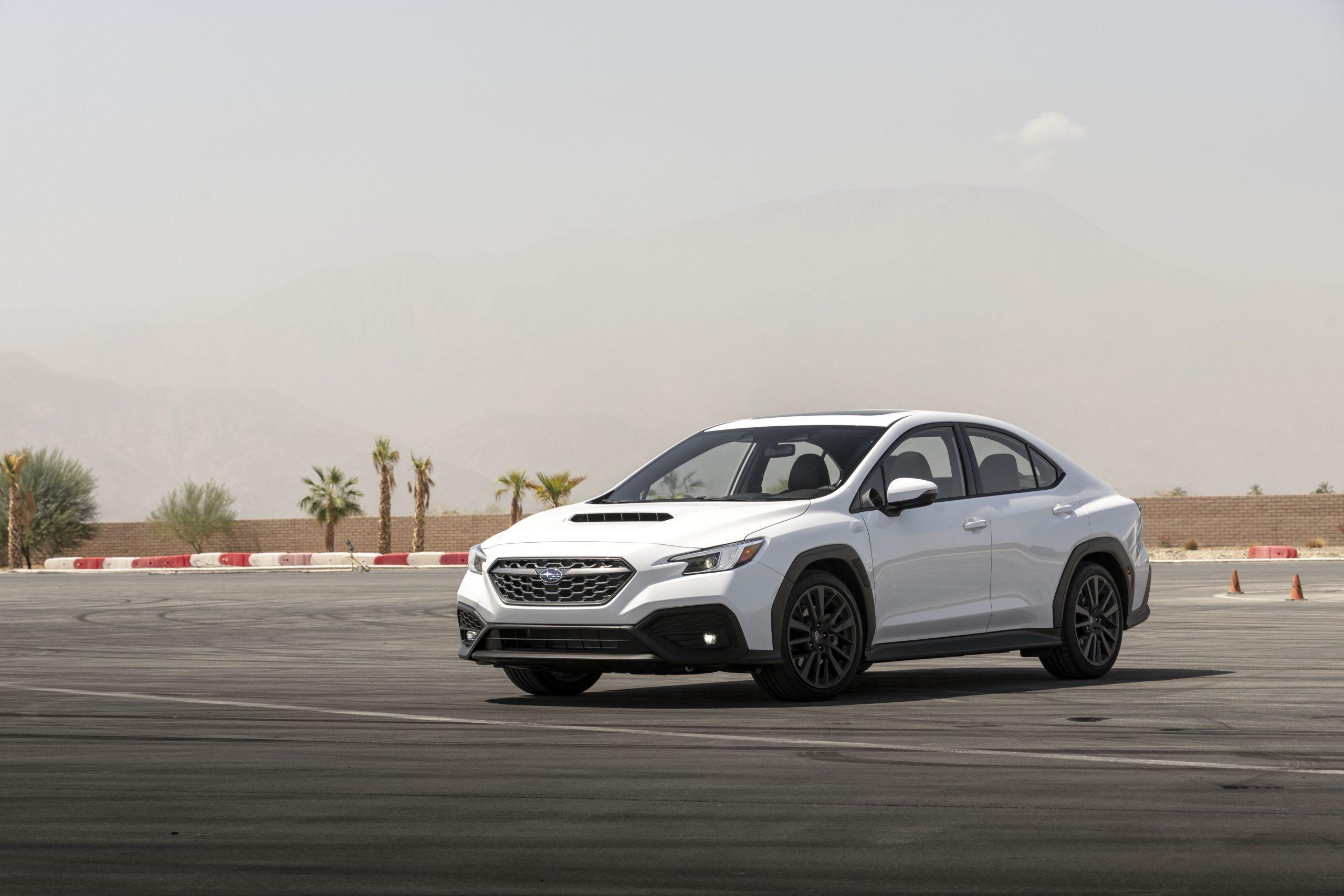 2022 Subaru WRX white front three-quarter