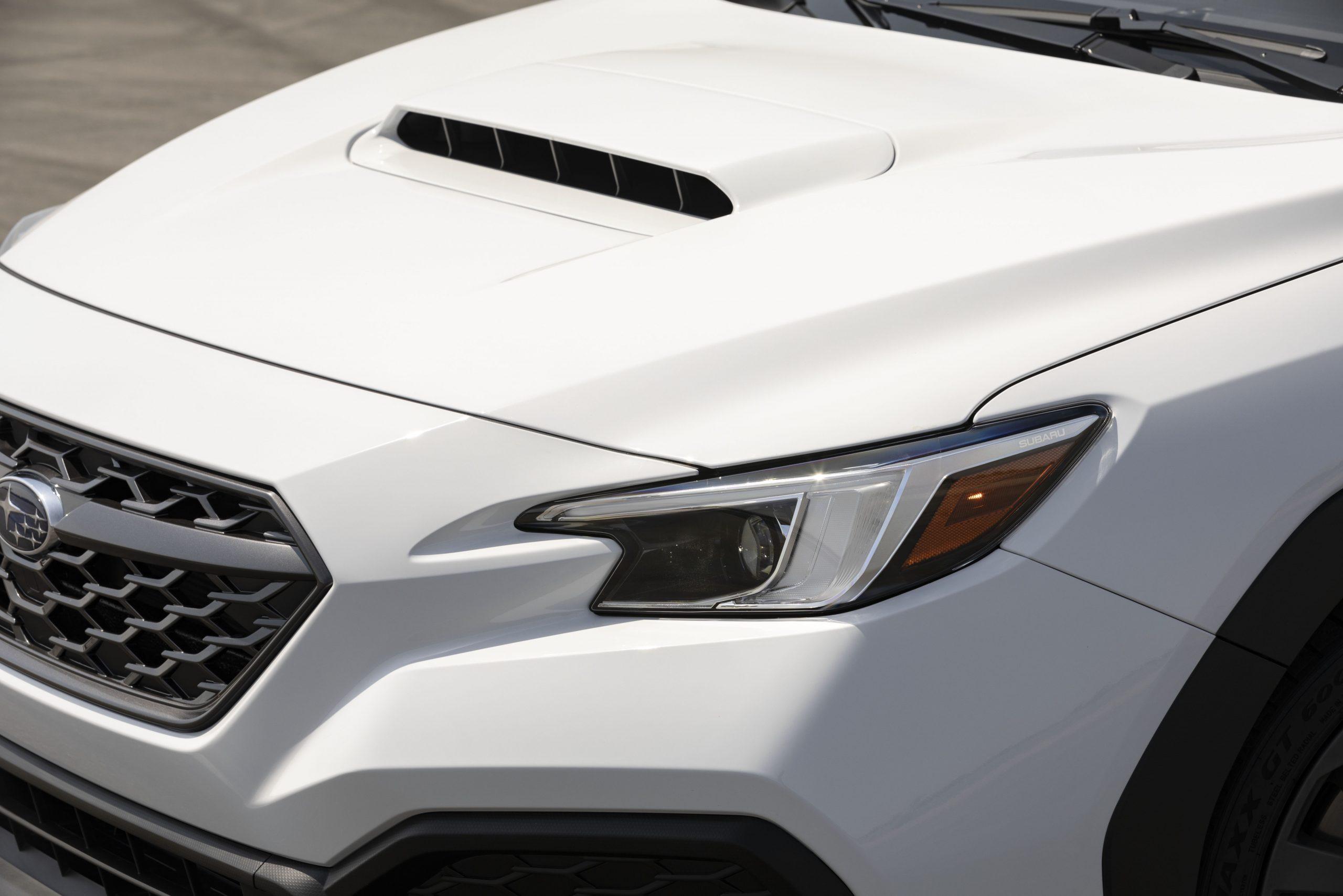 2022 Subaru WRX white hood headlight