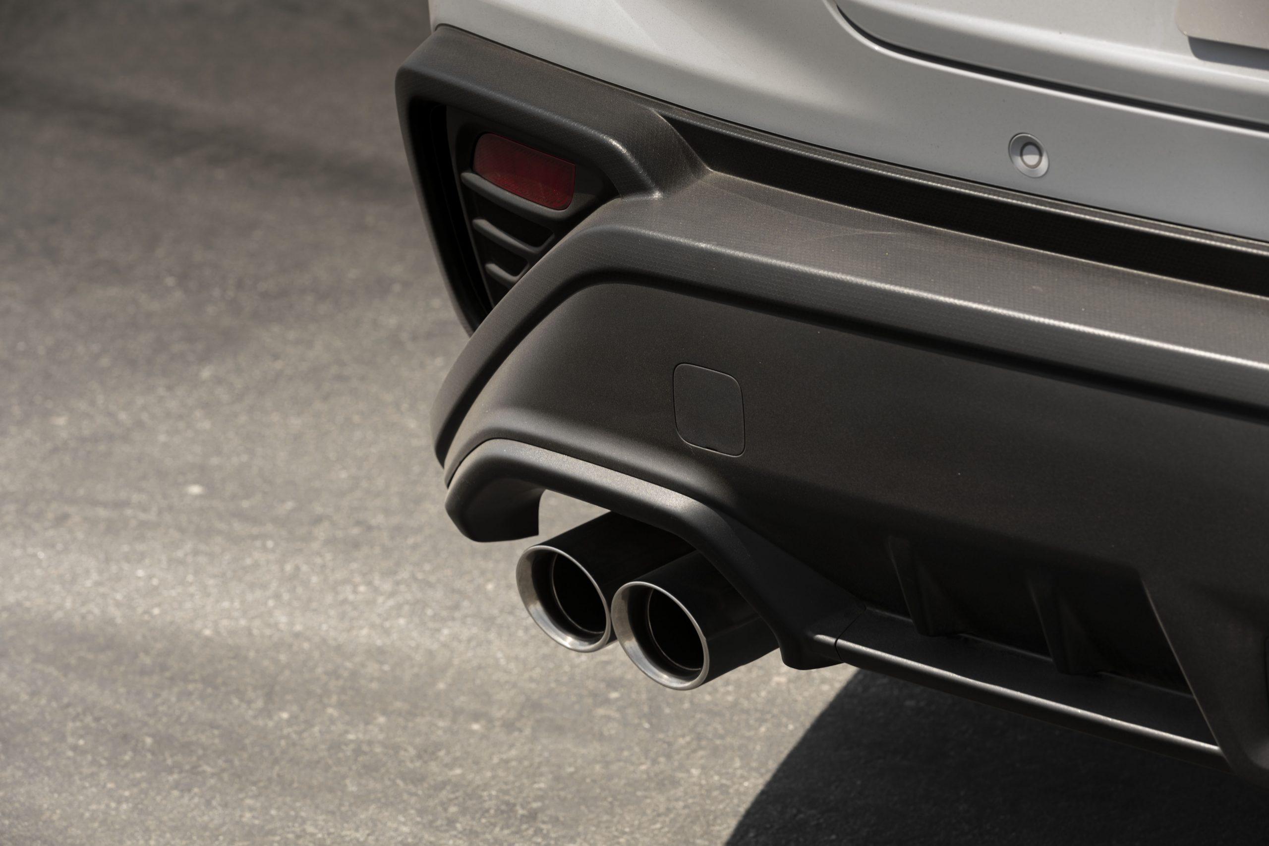 2022 Subaru WRX rear bumper exhaust tip detail