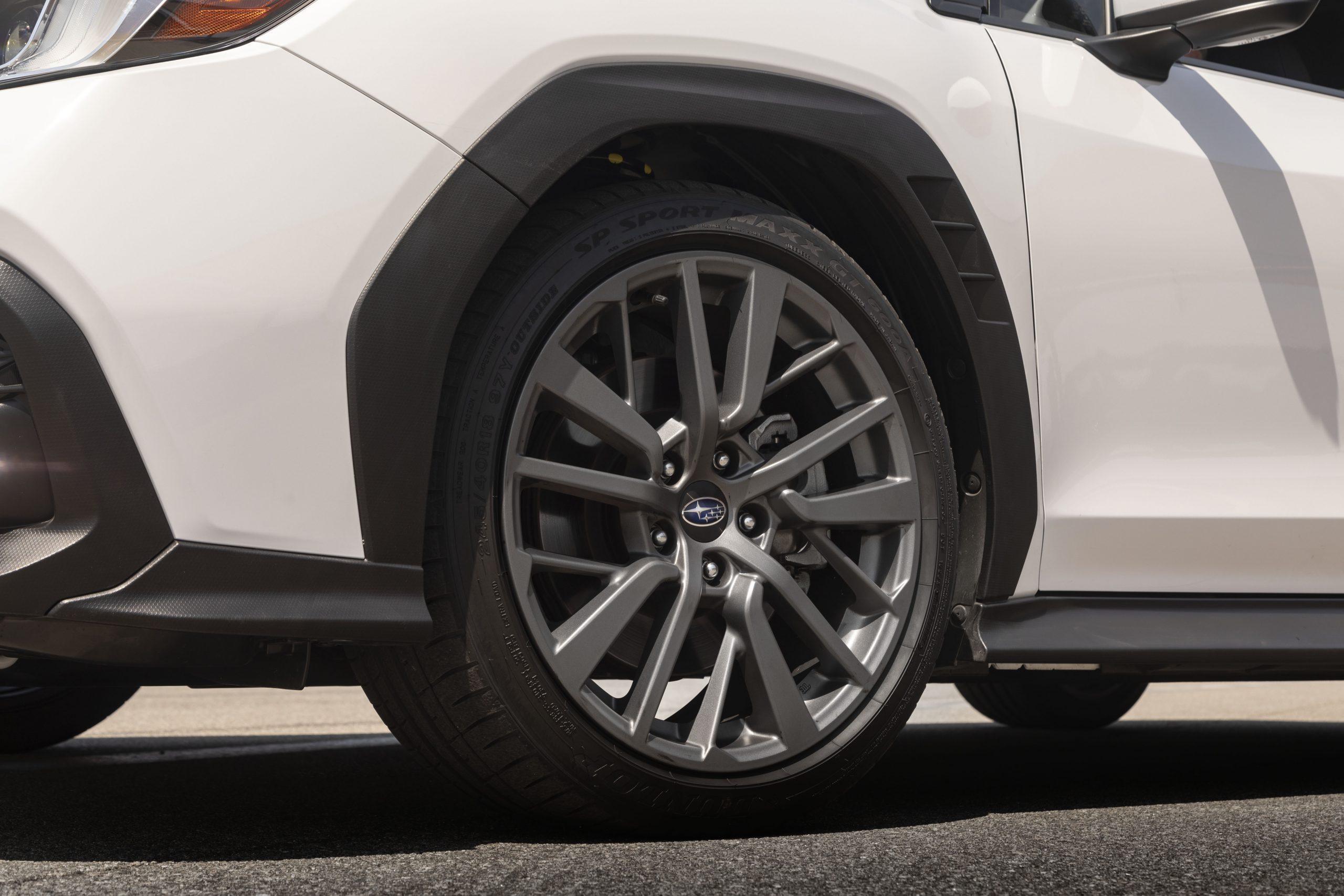 2022 Subaru WRX white wheel tire trim