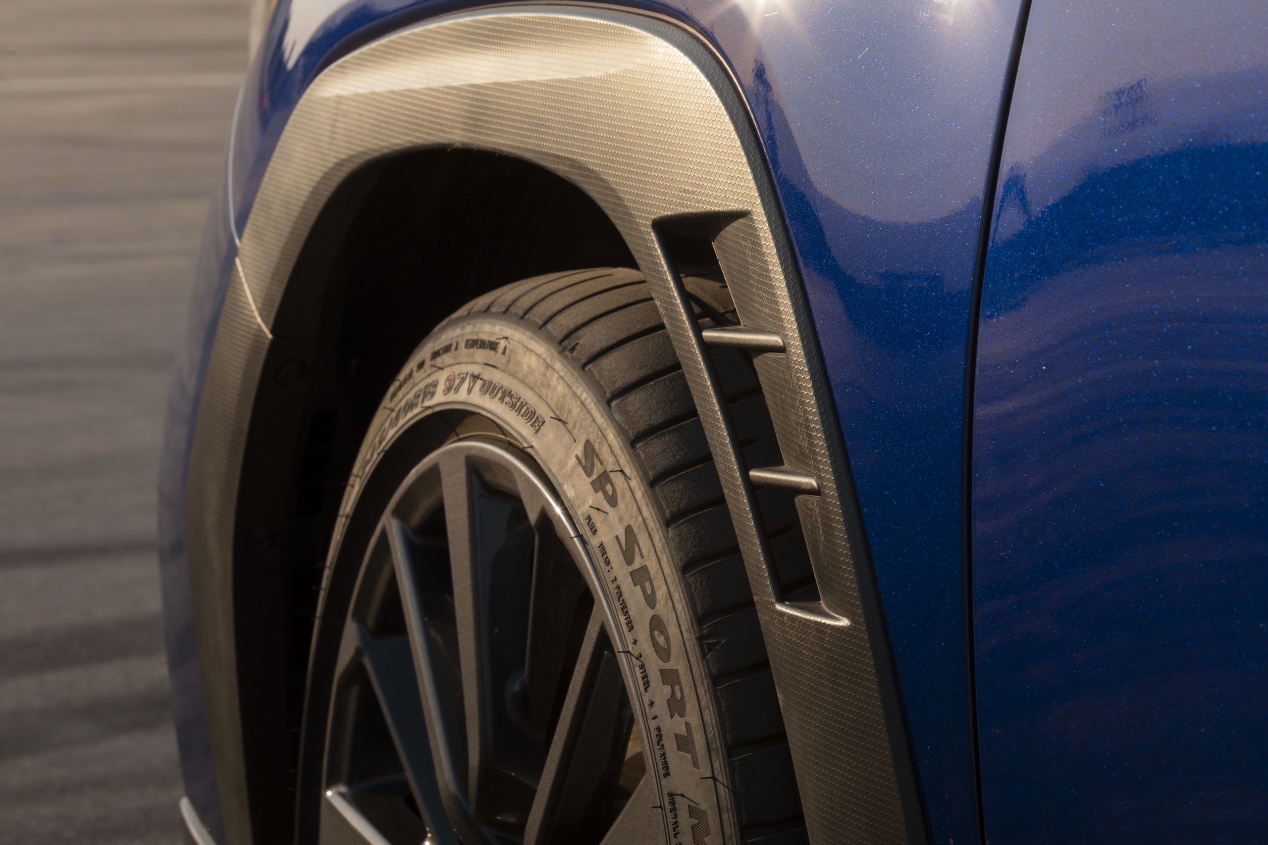 2022 Subaru WRX wheel tire trim detail