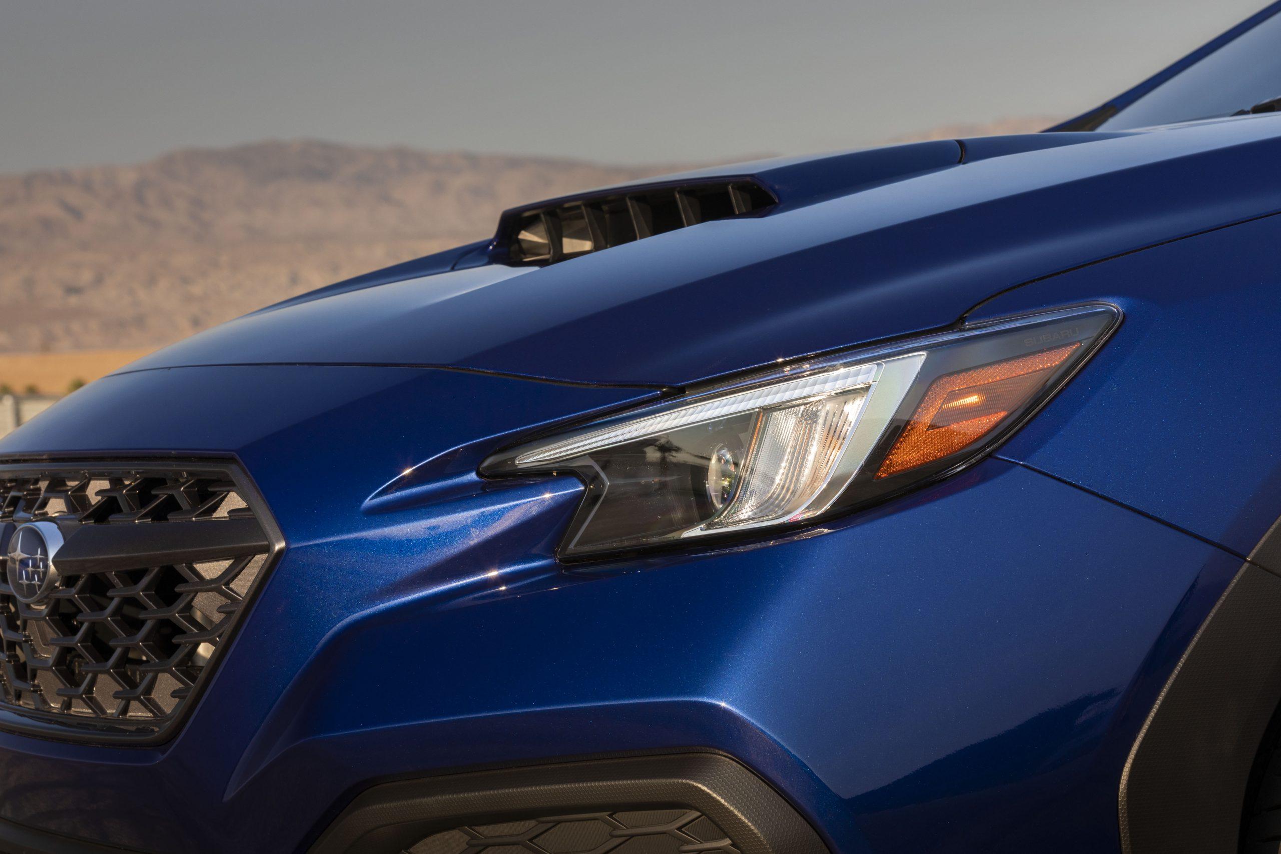 2022 Subaru WRX headlight hood detail