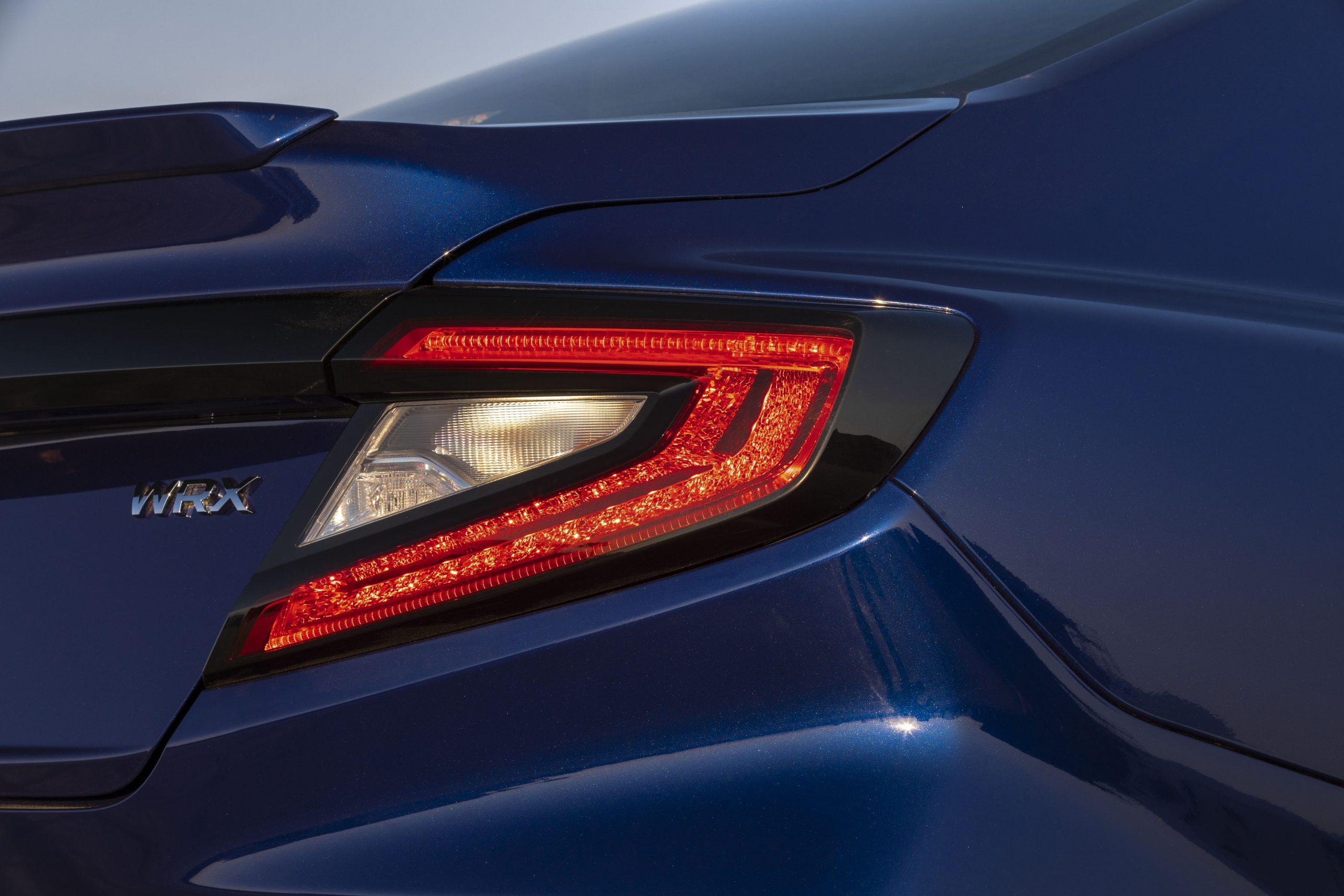 2022 Subaru WRX blue taillight detail