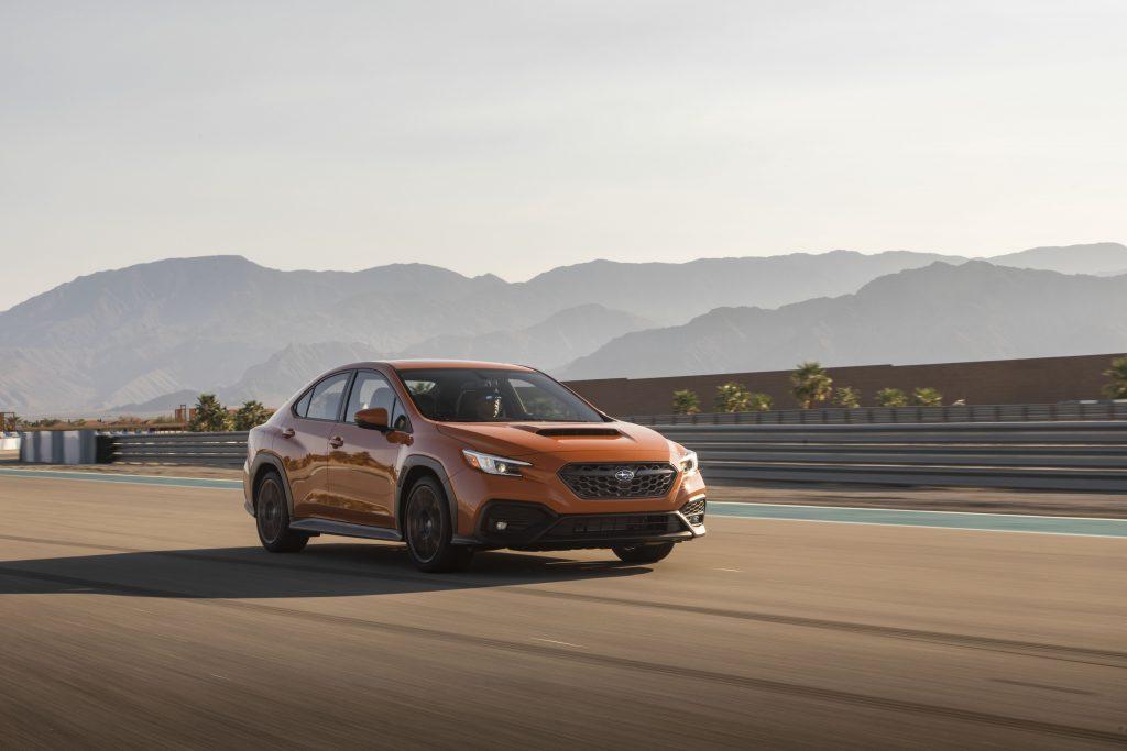 2022 Subaru WRX front three-quarter action