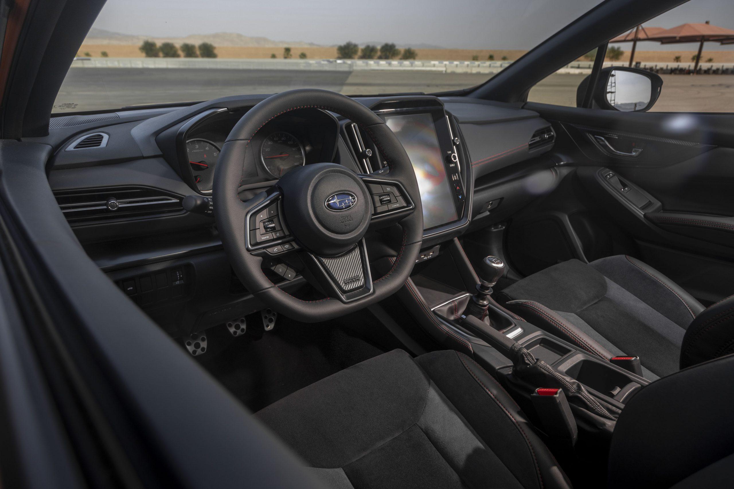 2022 Subaru WRX interior front angle