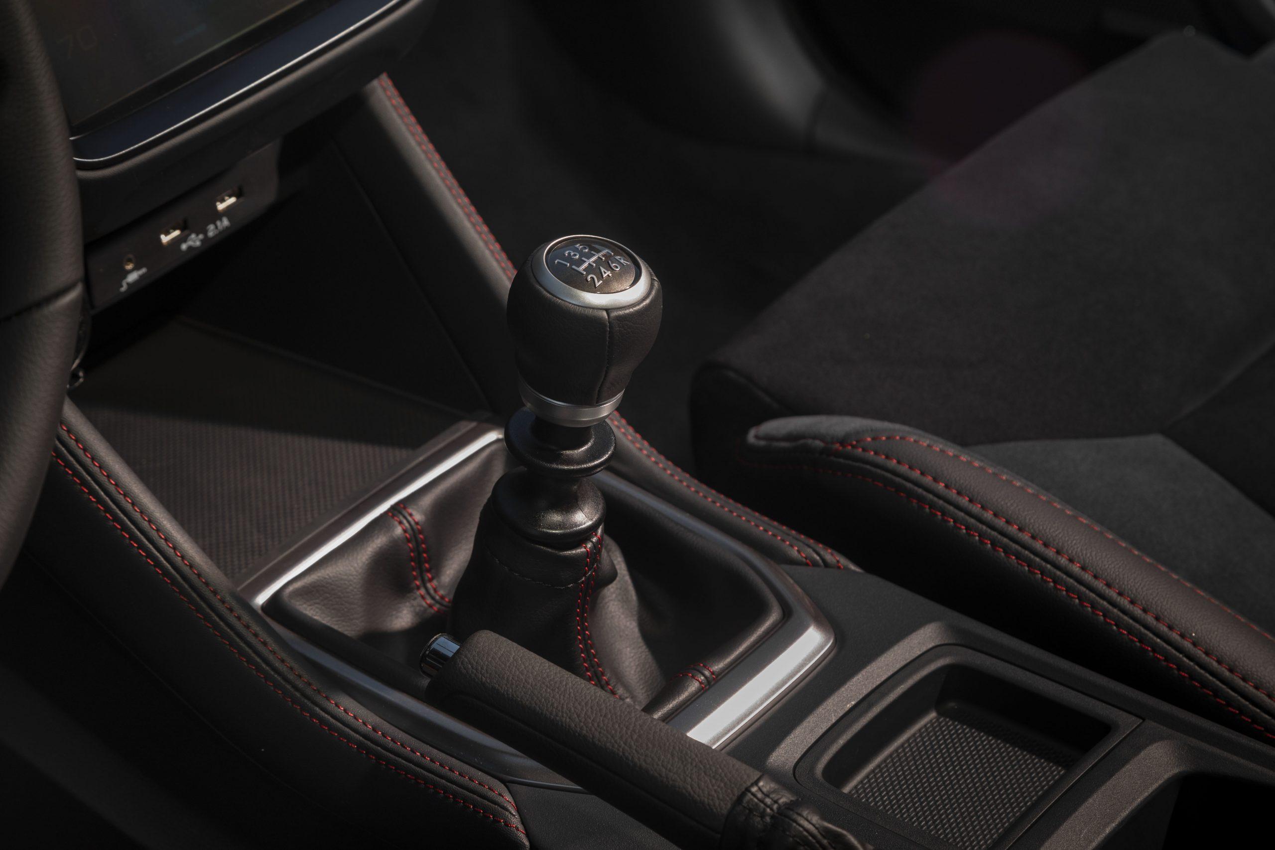 2022 Subaru WRX interior shifter