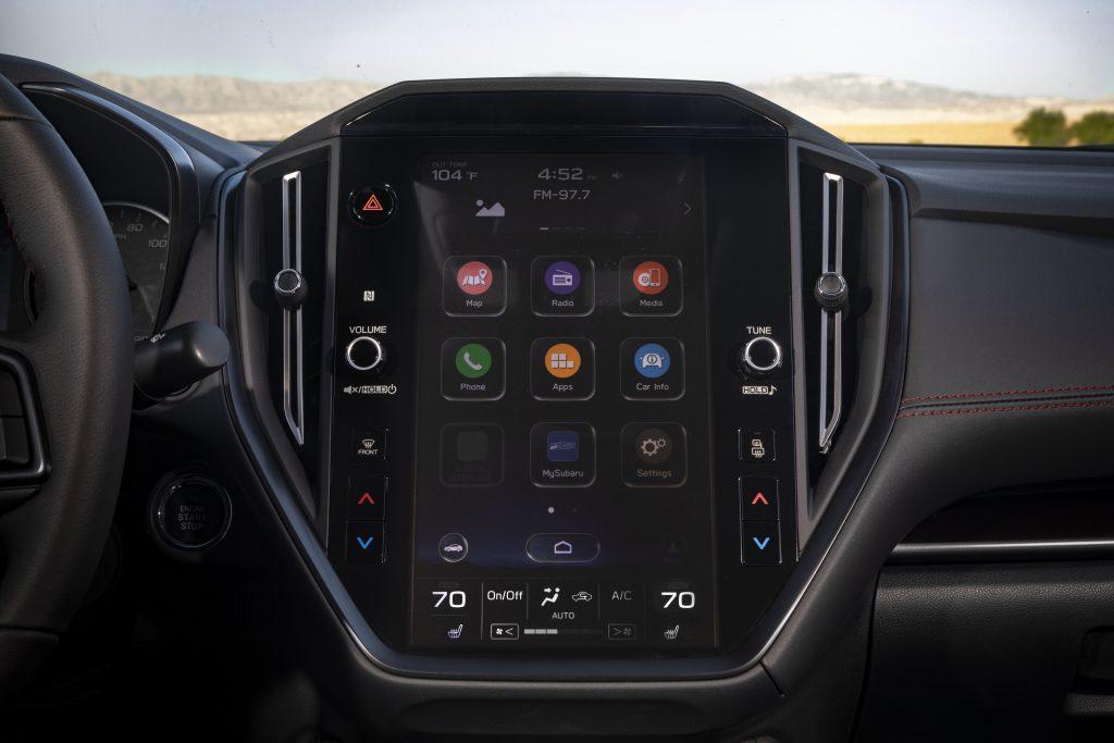 2022 Subaru WRX interior infotainment screen