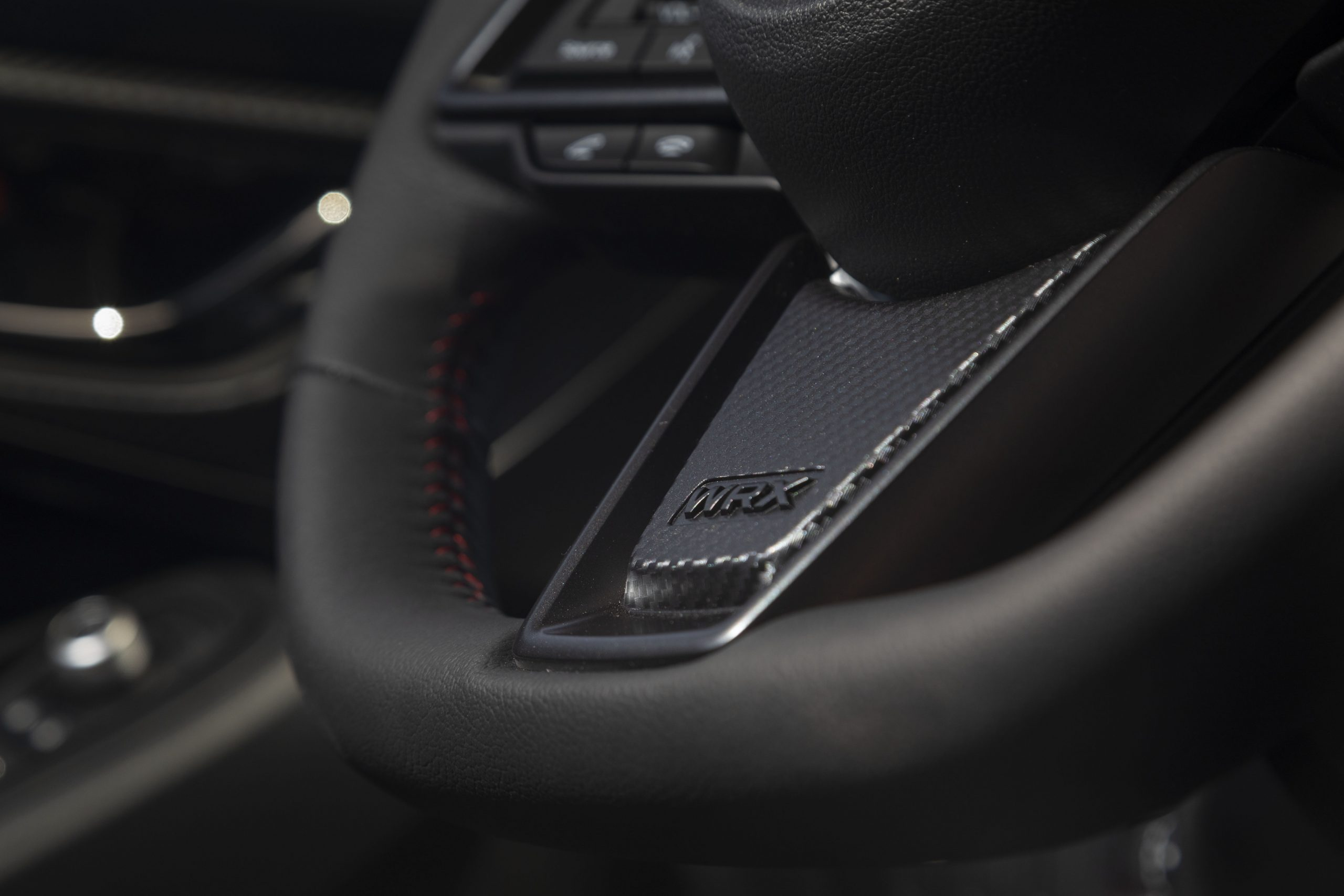 2022 Subaru WRX interior steering wheel detail