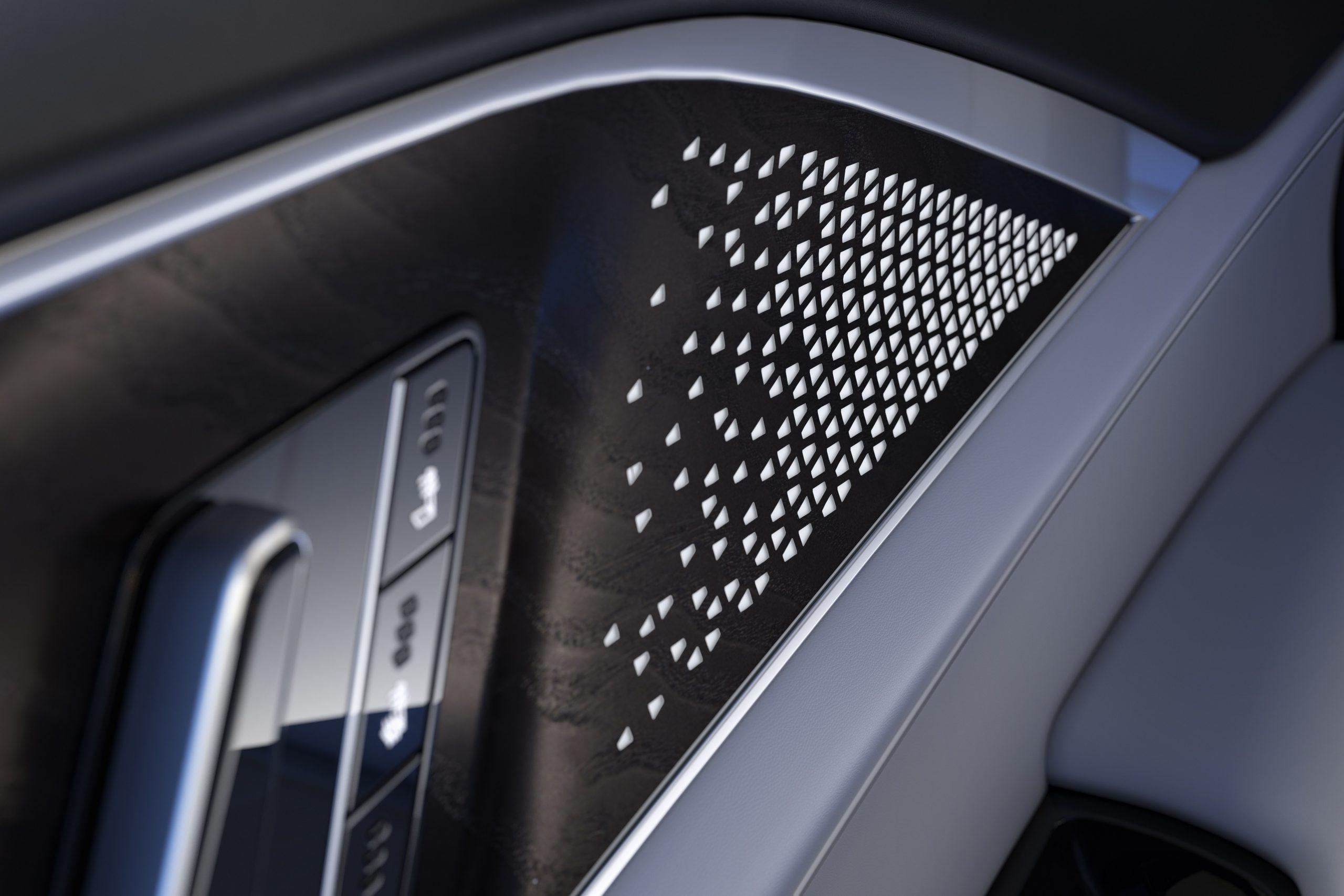 2023 Lyriq door laser etched wood panel interior