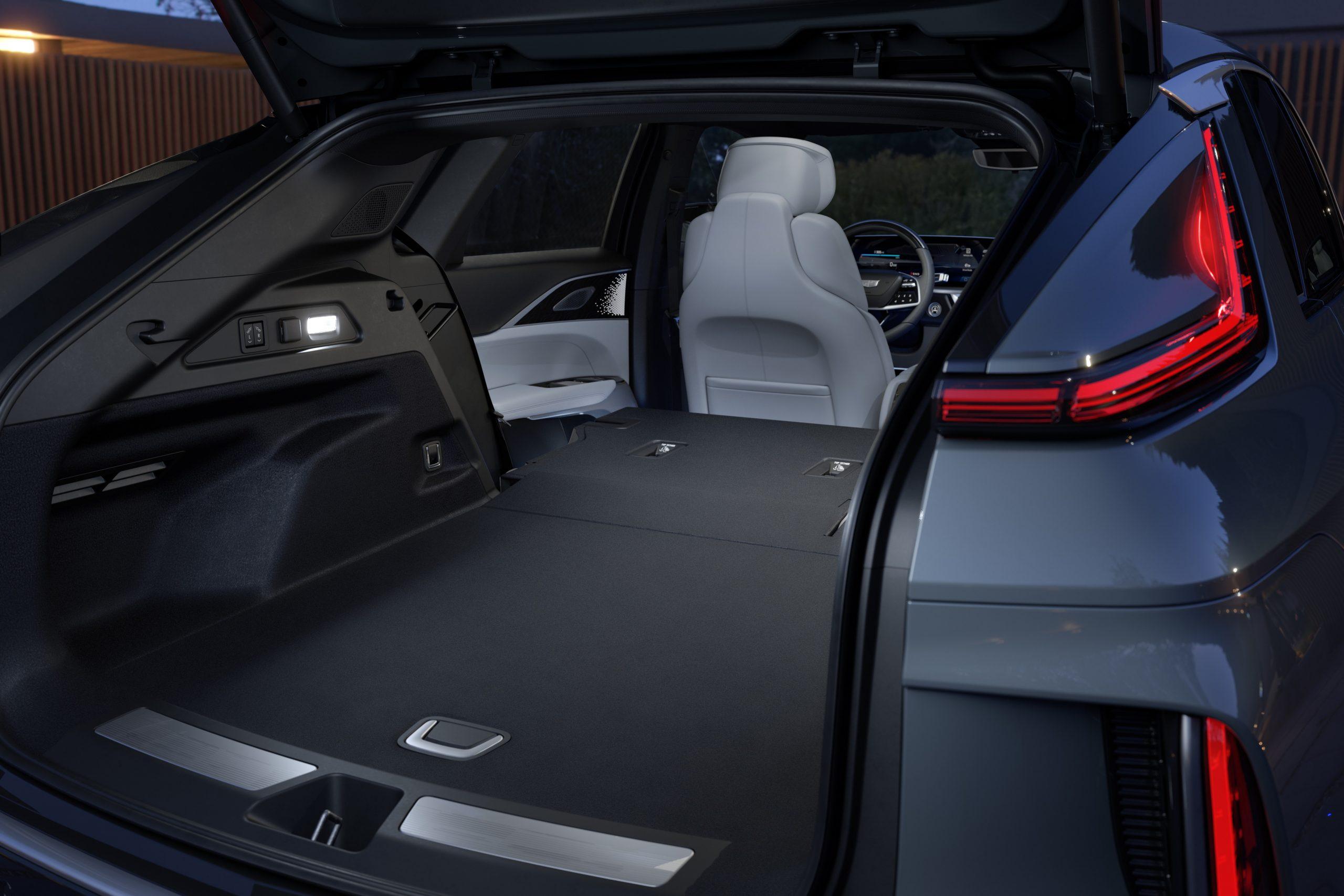 2023 Lyriq interior rear seats folded