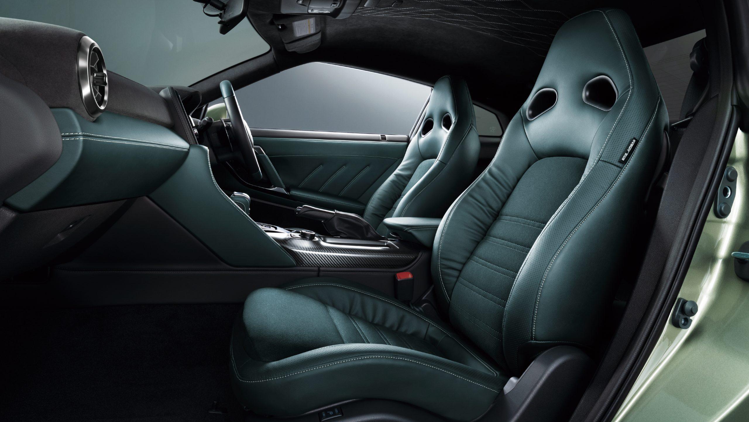 2022 Nissan GT-R Premium T-Spec interior green