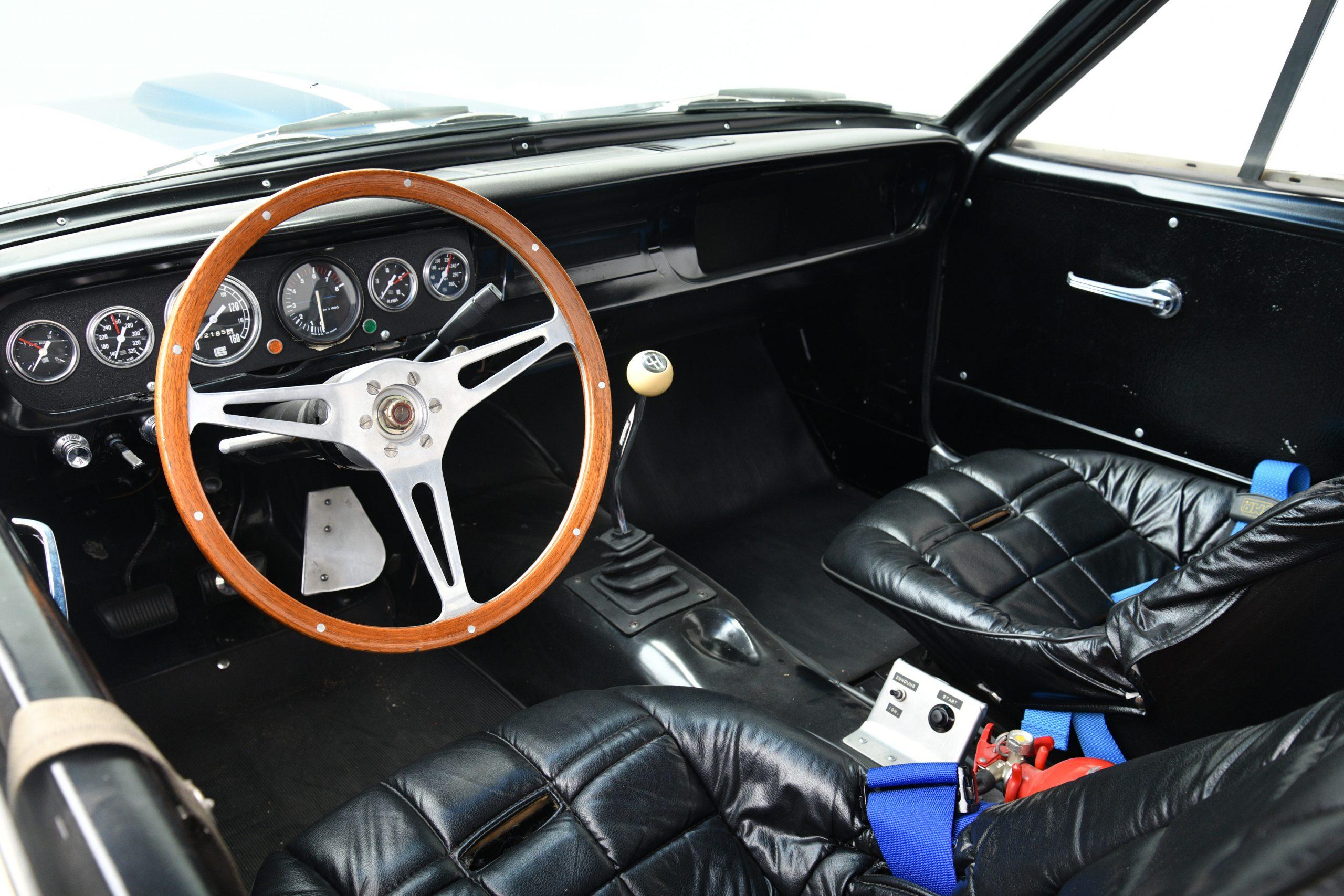 Sir Stirling Moss GT 350 interior