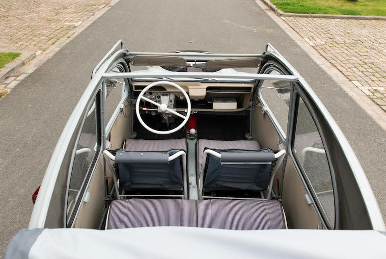1966 Citroën 2CV Sahara AZ 4x4 top off overhead