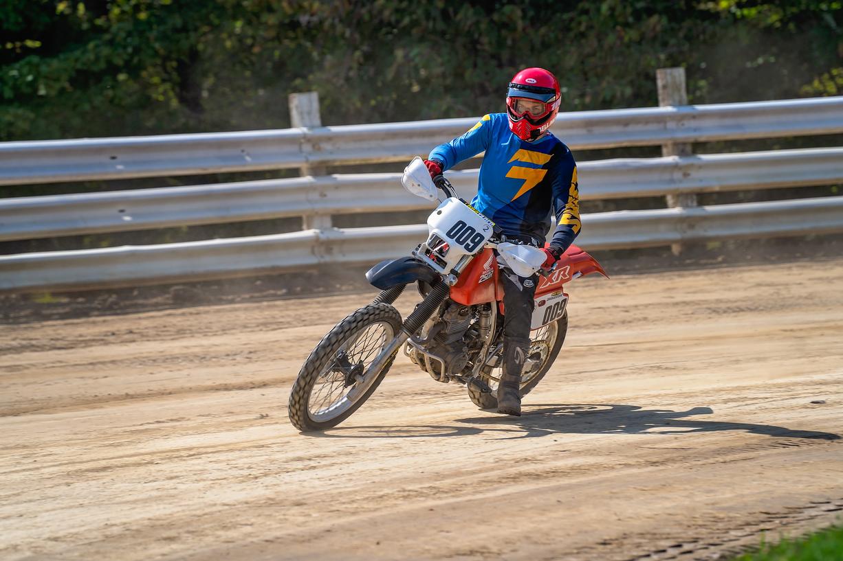 Kyle Smith dirt track medium front turn