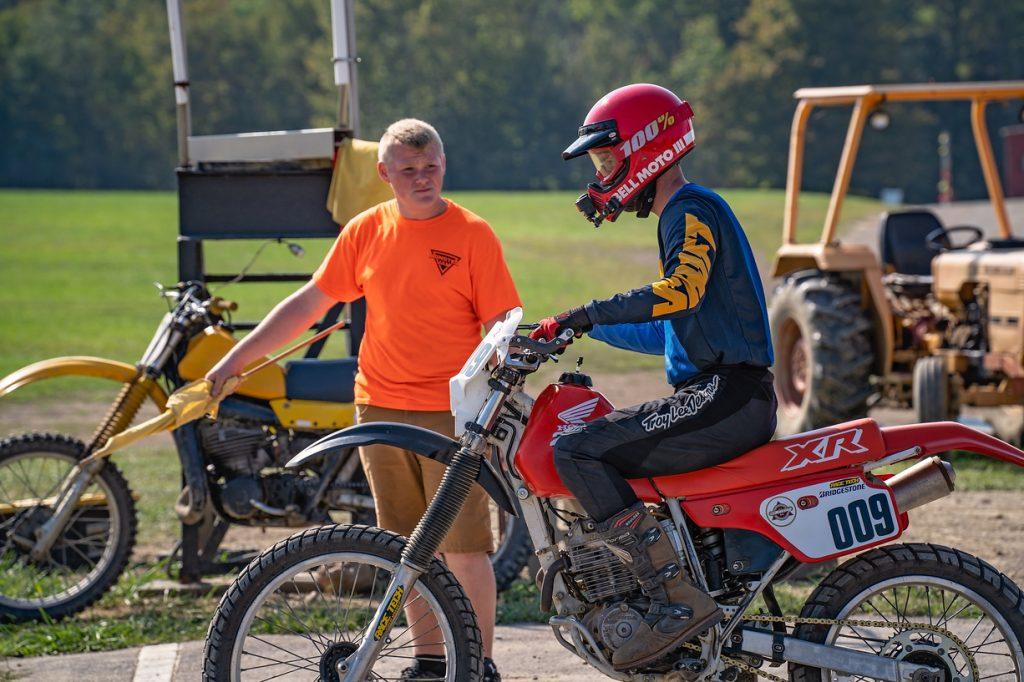 Kyle Smith dirt track start liine