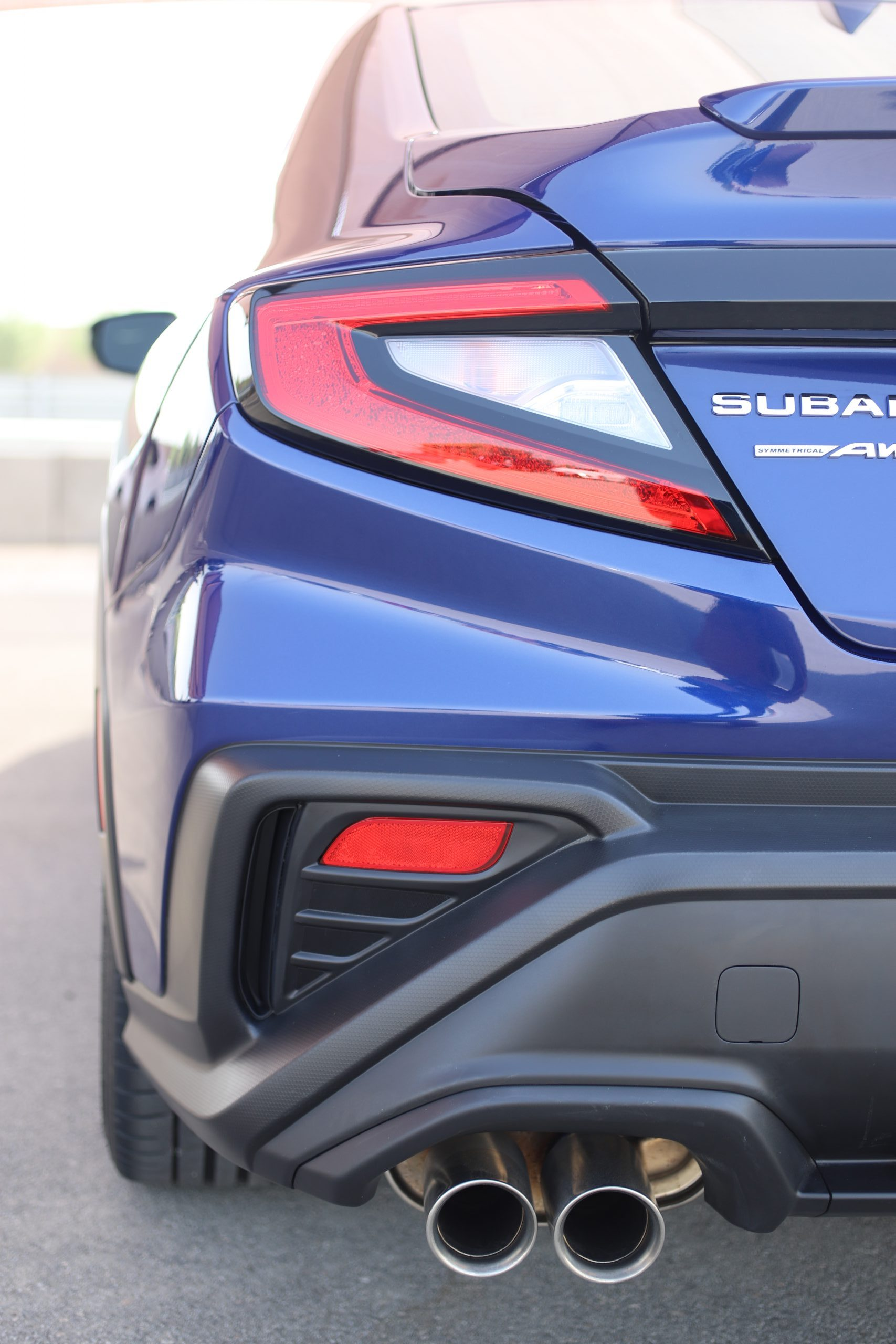 2022 Subaru WRX blue rear vertical