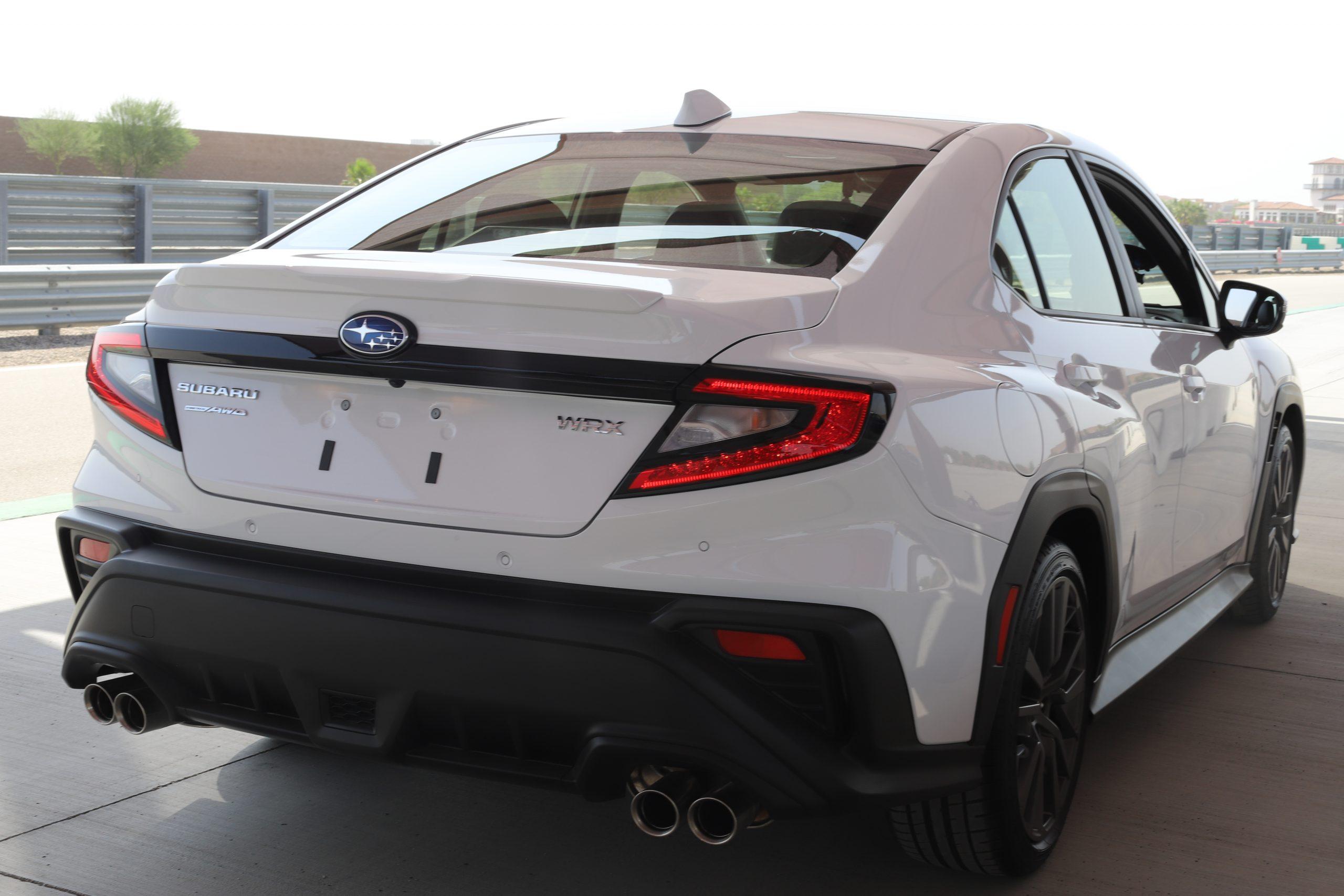 2022 Subaru WRX white rear