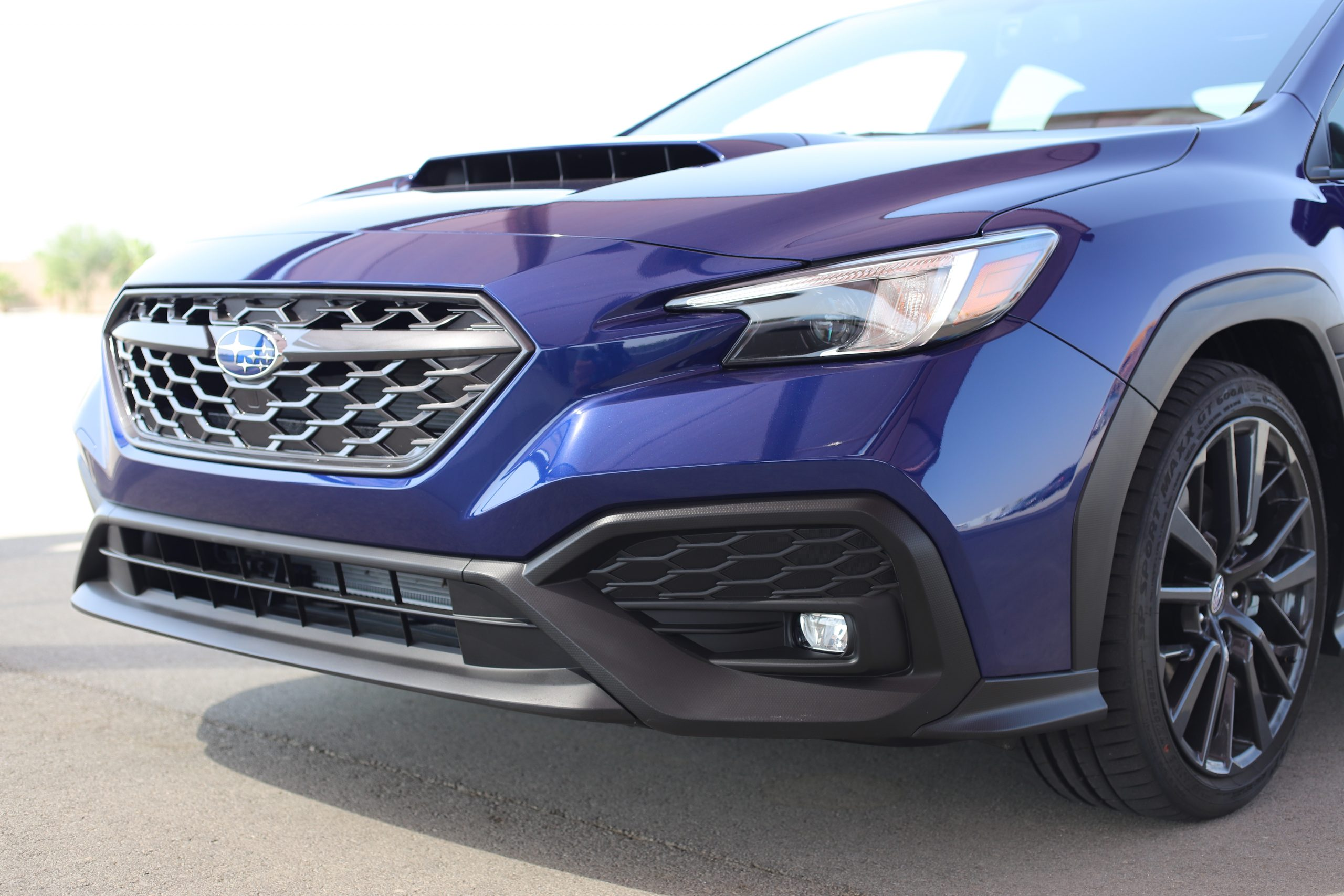 2022 Subaru WRX blue front end close