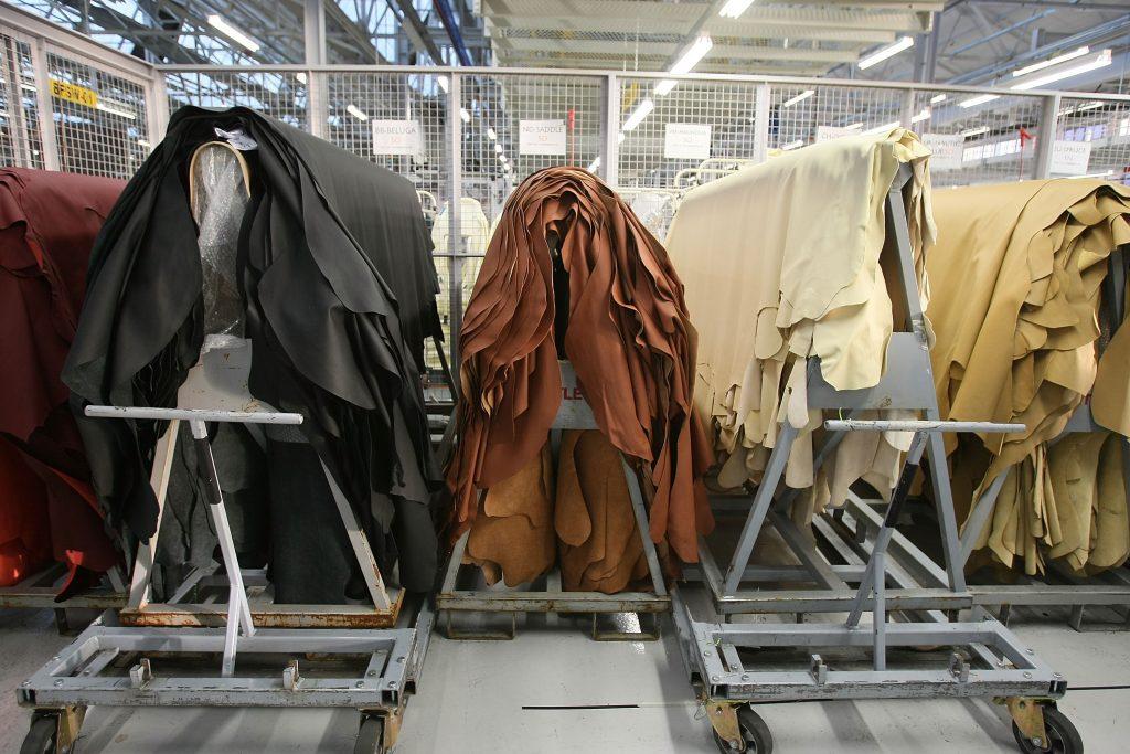 Bentley Crewe Production Line Leather Hide Racks