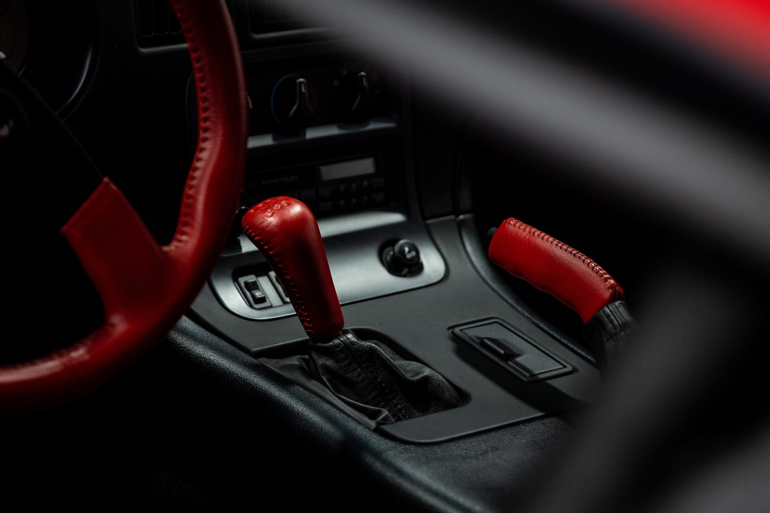 Viper collection interior red leather