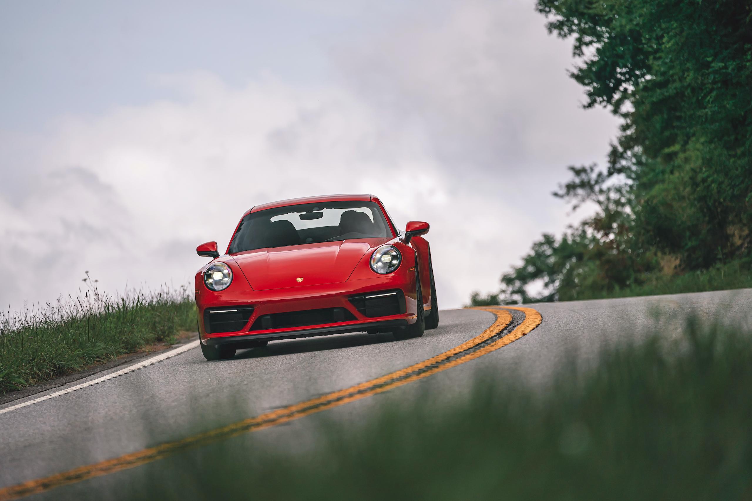 Porsche 911 GTS front action