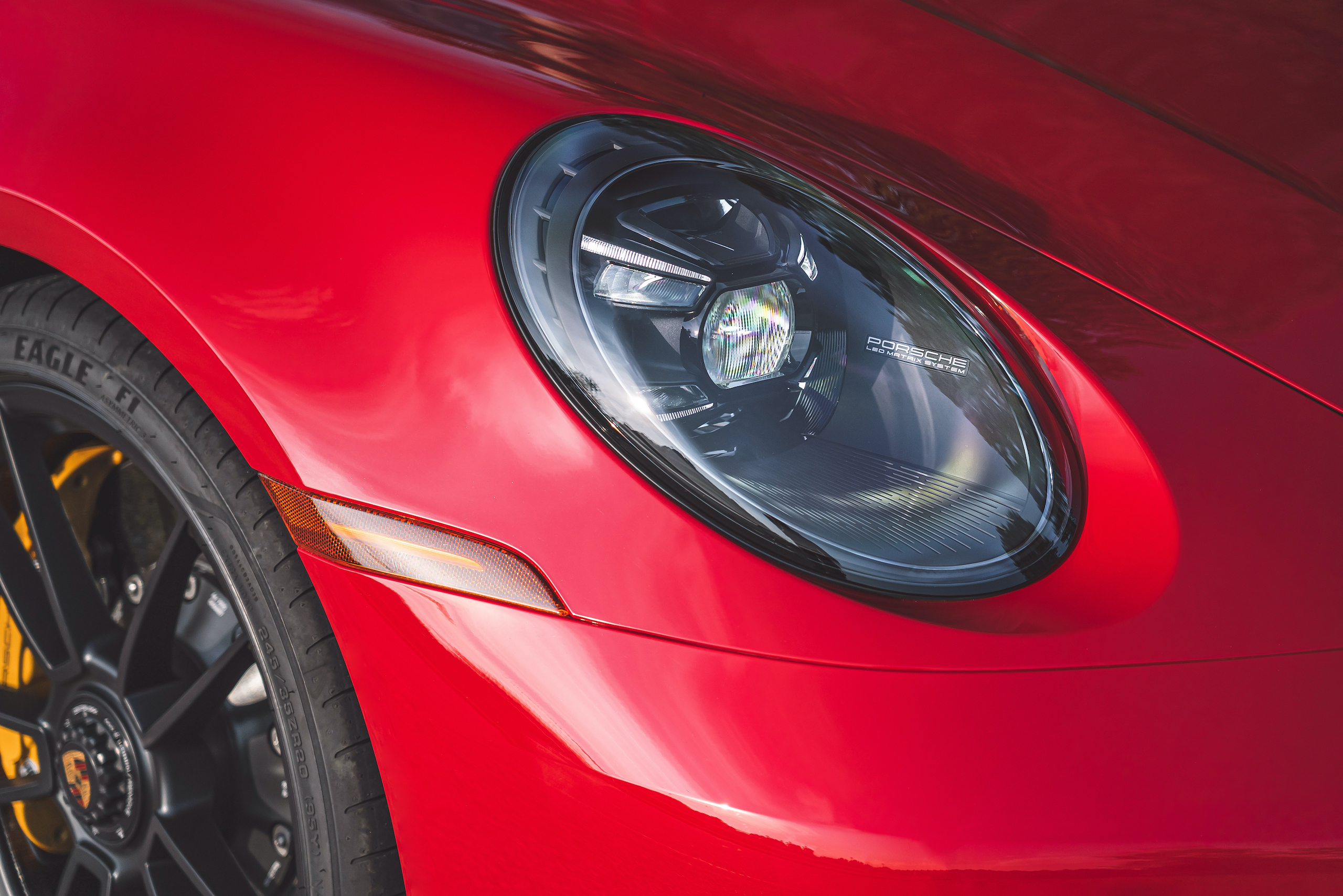 Porsche 911 GTS headlight