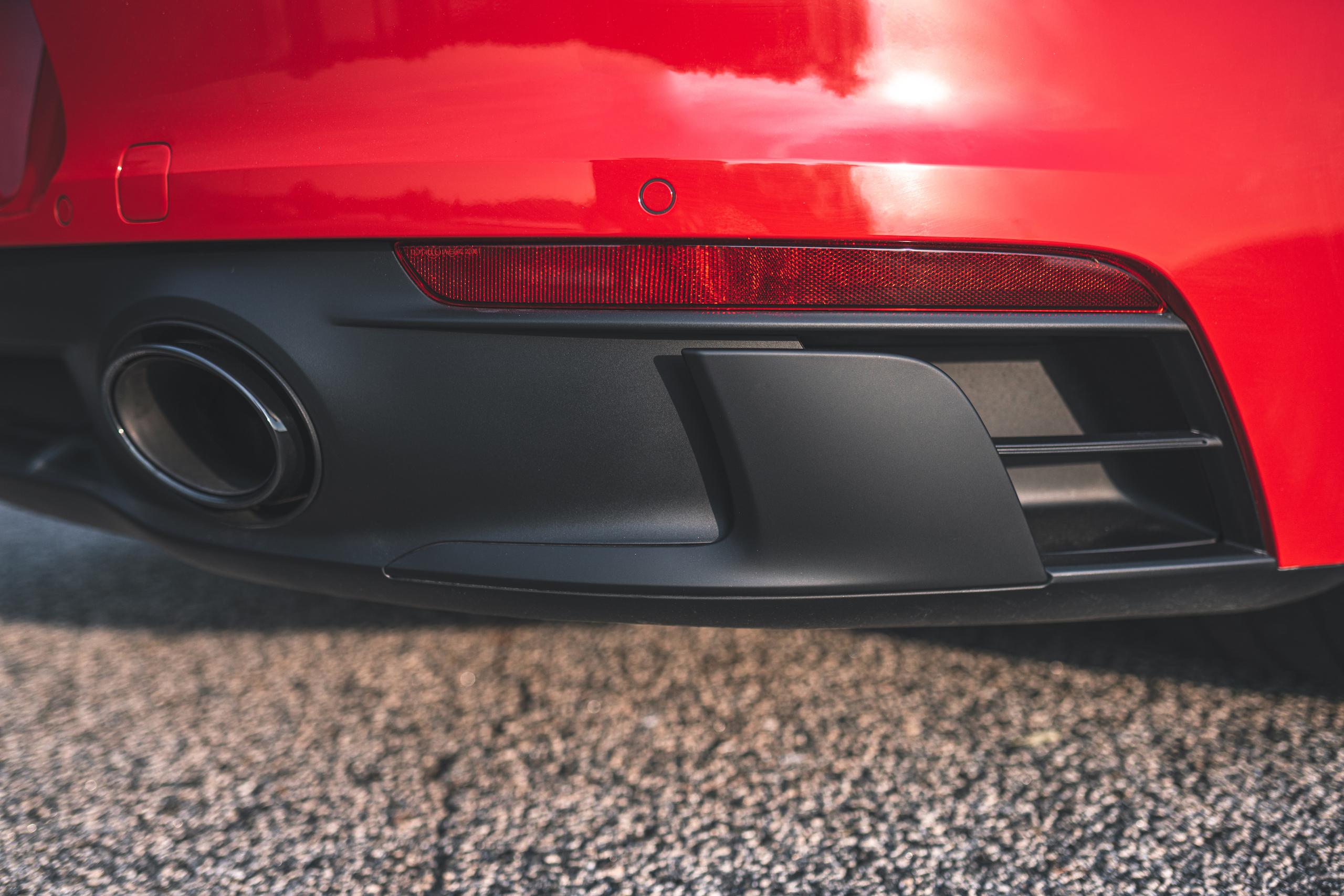 Porsche 911 GTS rear body aerodynamics