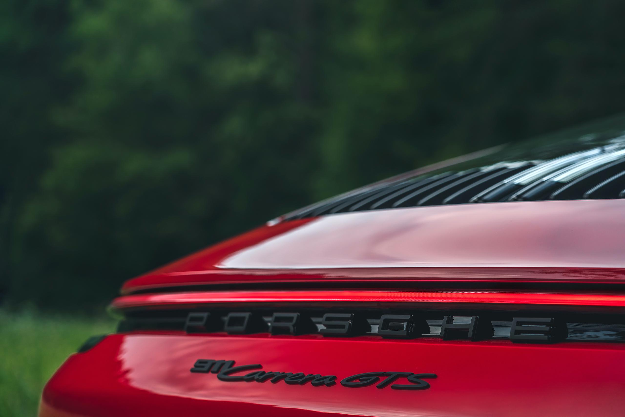 Porsche 911 GTS rear badge detail