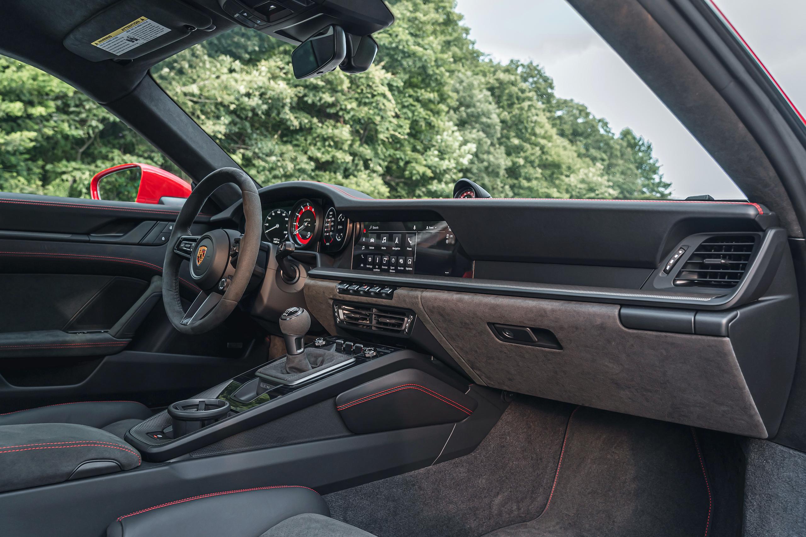 Porsche 911 GTS interior front angle