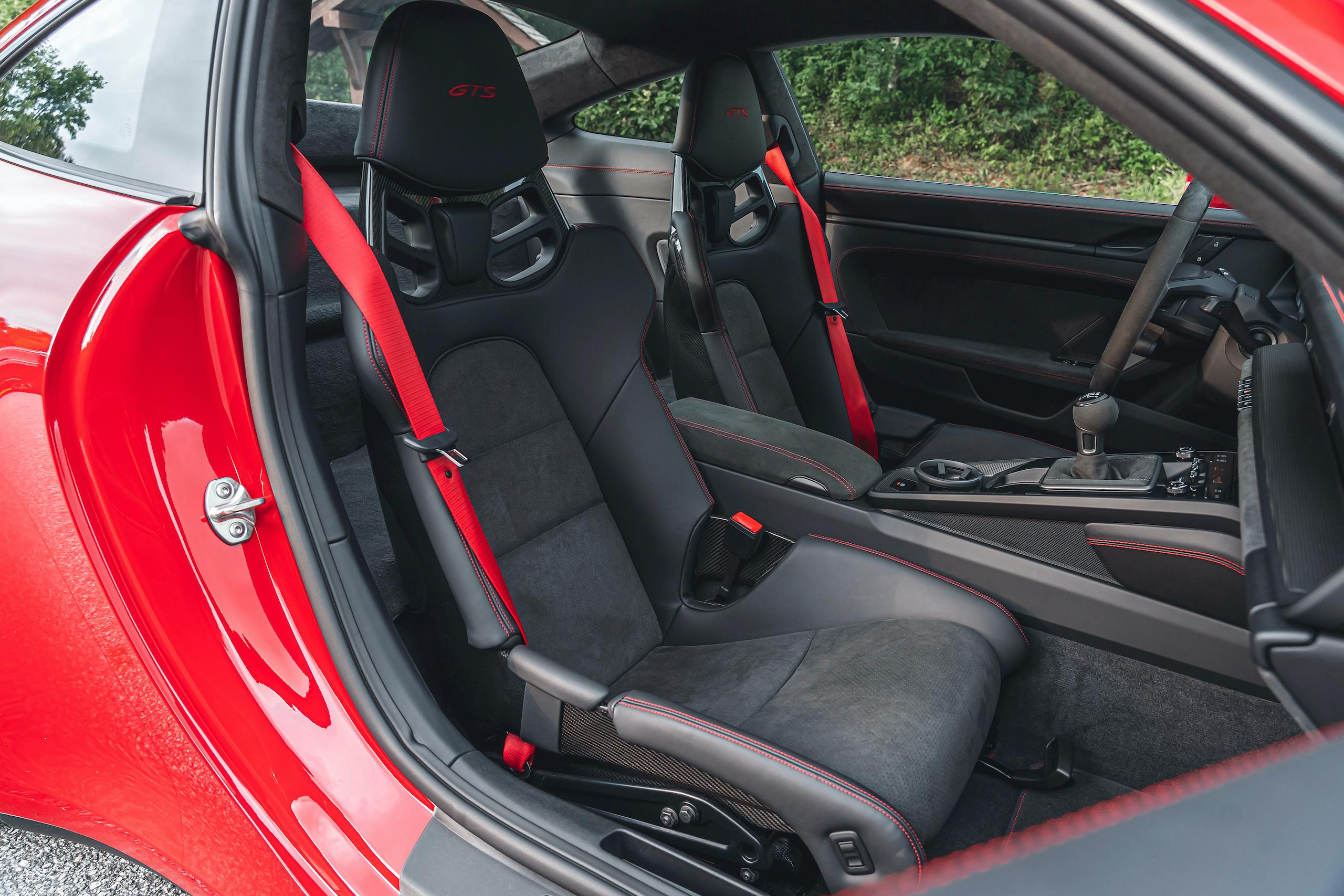Porsche 911 GTS interior front seats