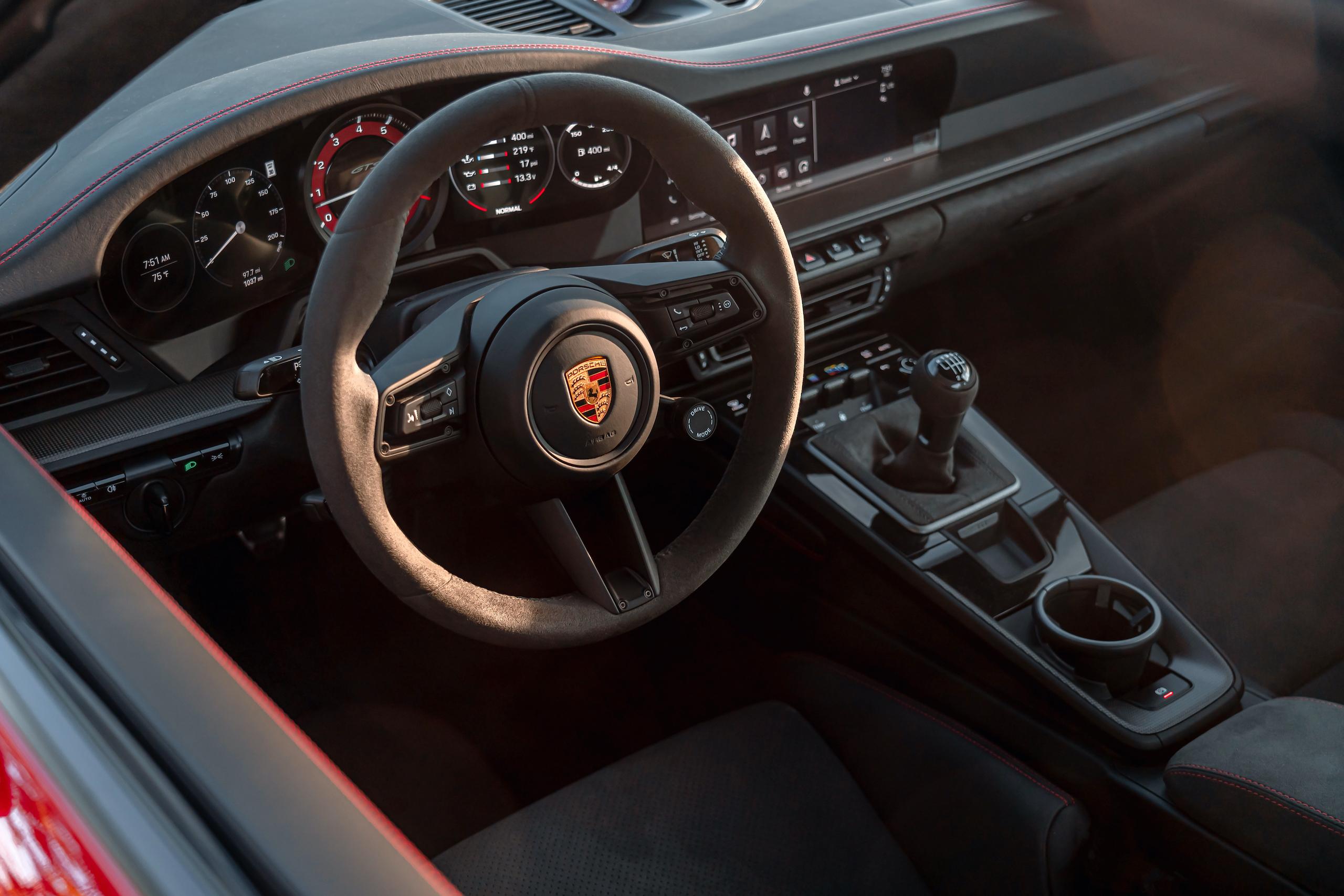 Porsche 911 GTS interior driver cockpit