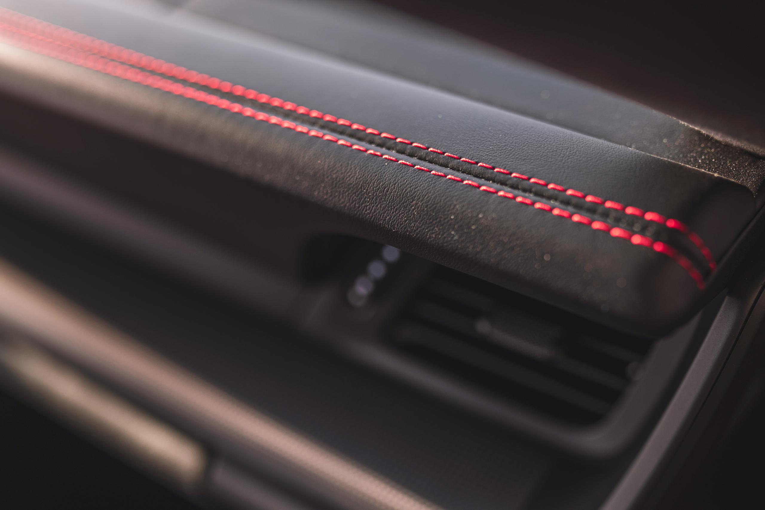 Porsche 911 GTS interior stitching detail