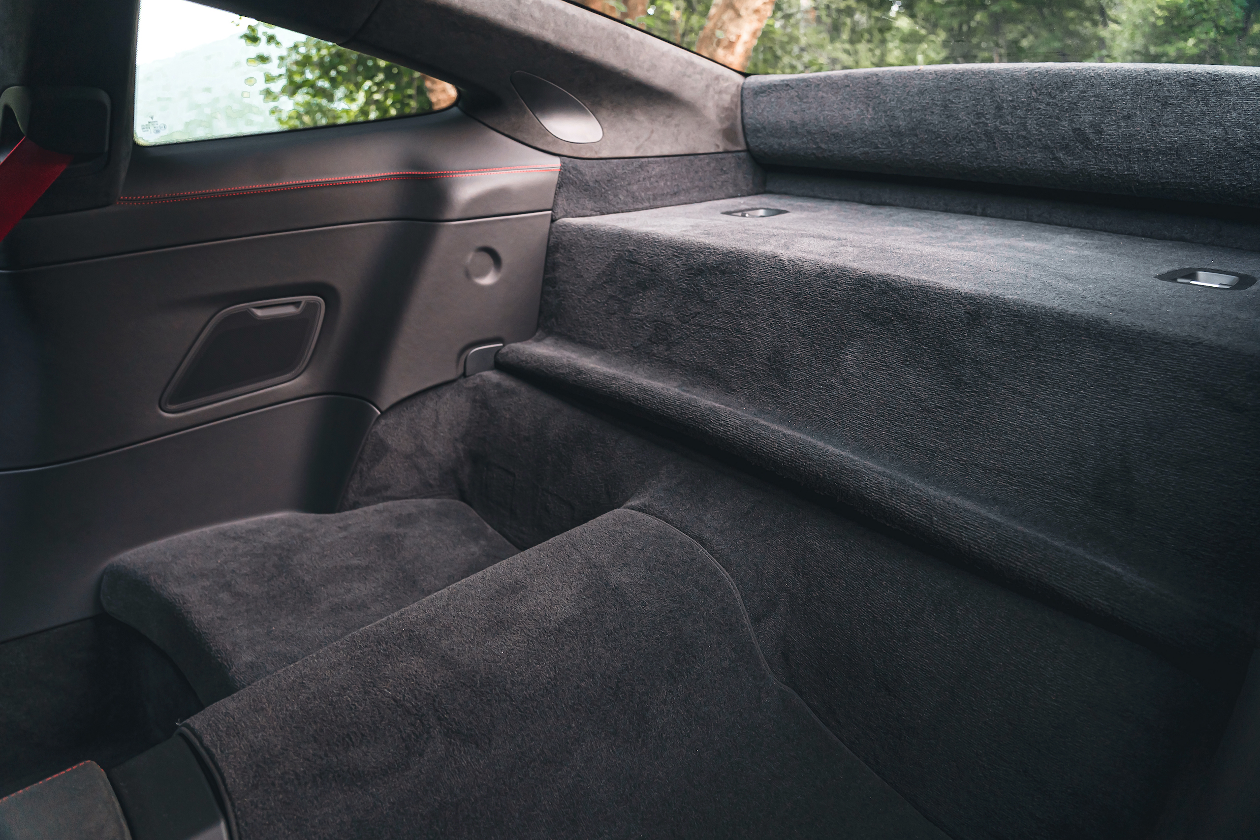 Porsche 911 GTS interior rear cargo