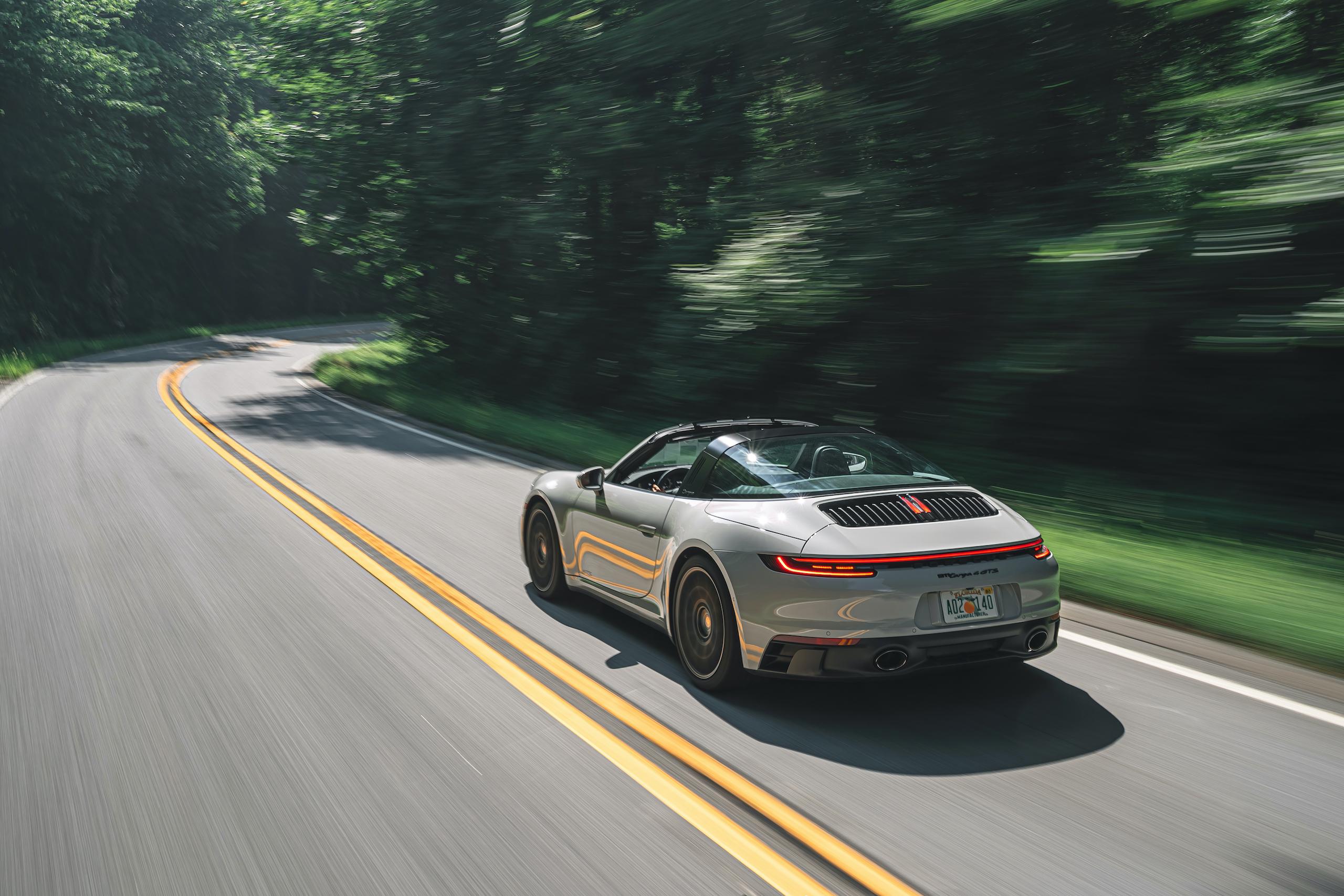 Porsche 911 Targa 4 GTS rear three-quarter action