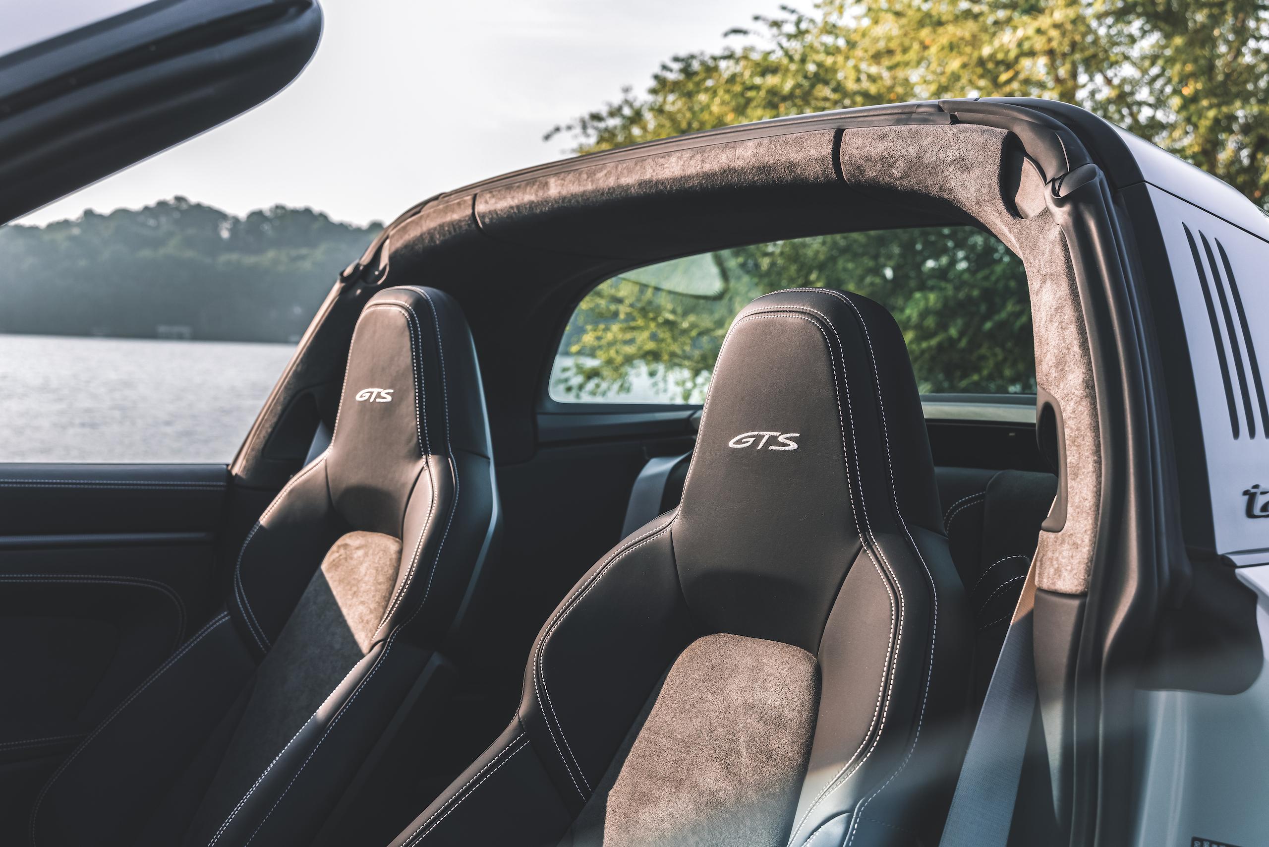 Porsche 911 Targa 4 GTS interior seats roofline