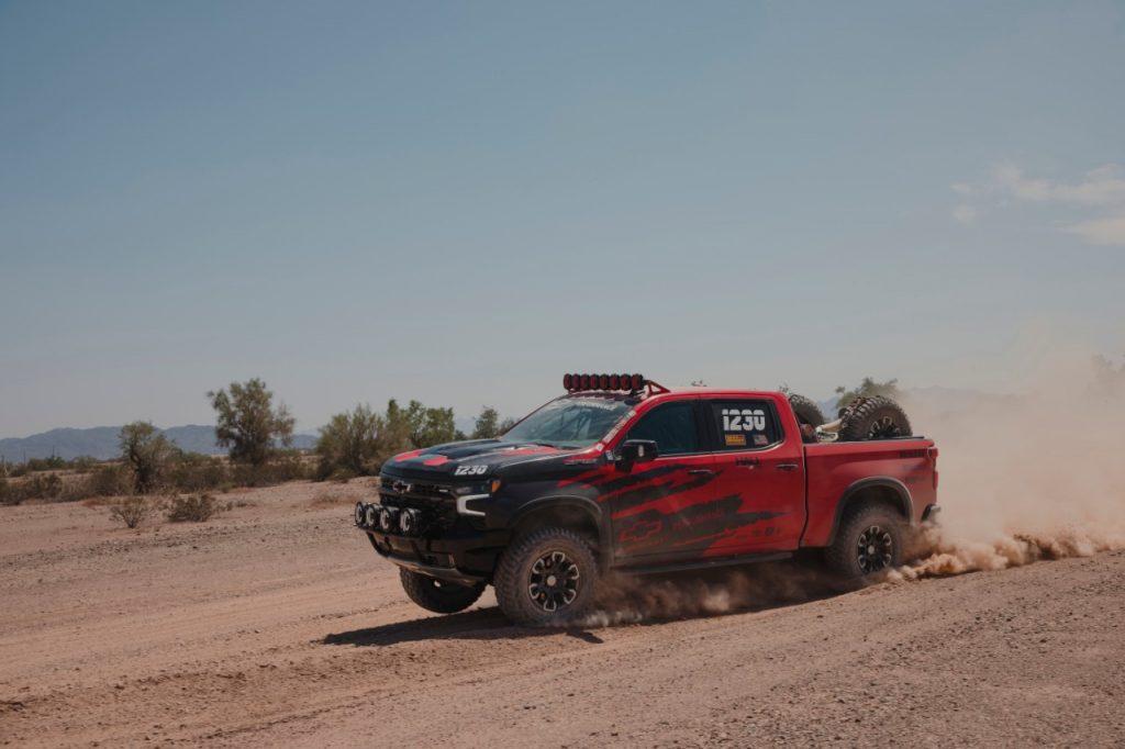Silverado ZR2 desert race truck