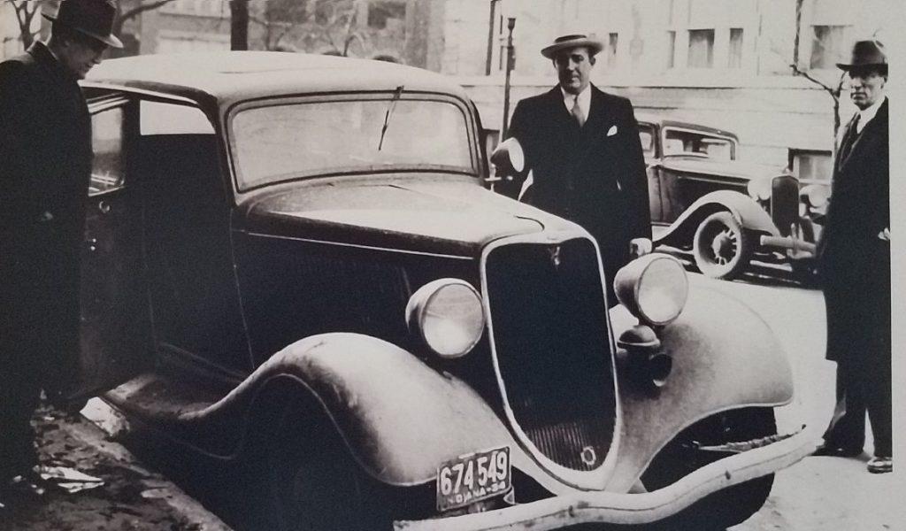 Dillinger car - 1933 Ford V-8 abandoned in Chicago