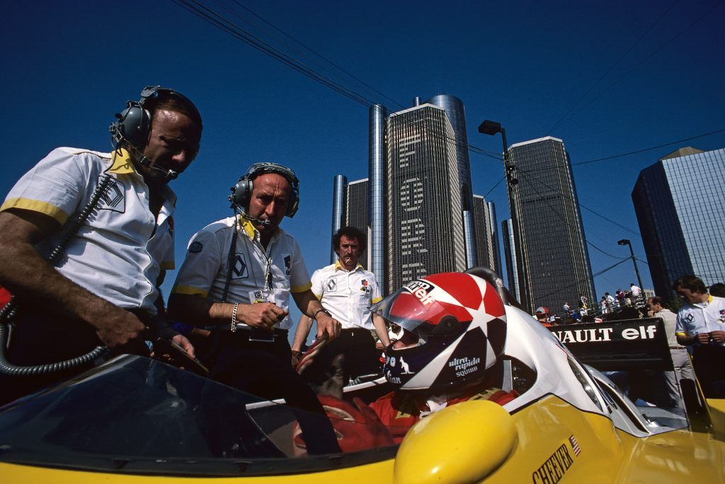 Eddie Cheever Michel Tetu Grand Prix Of Detroit