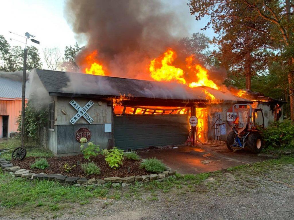 Woodie Wagon Shop flames