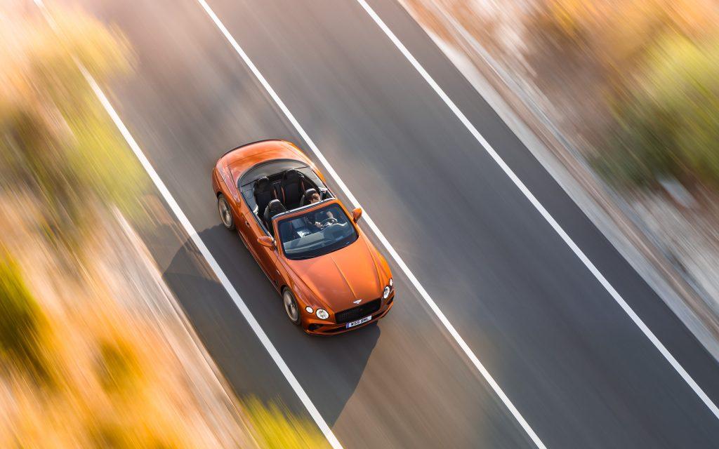 Bentley GT Speed Convertible overhead action