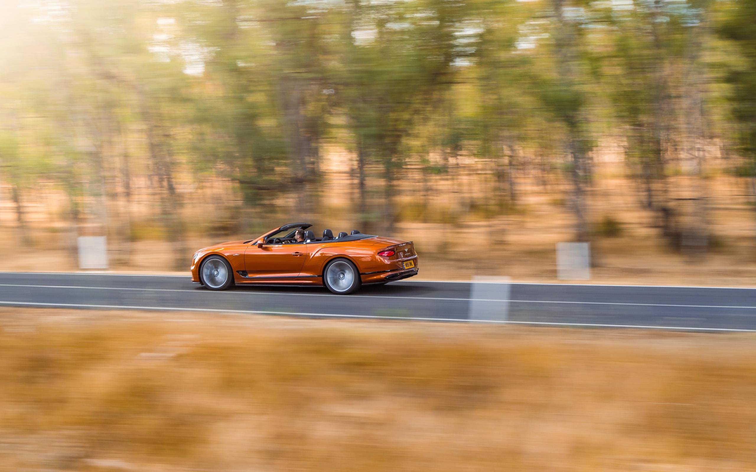 Bentley GT Speed Convertible rear three-quarter action