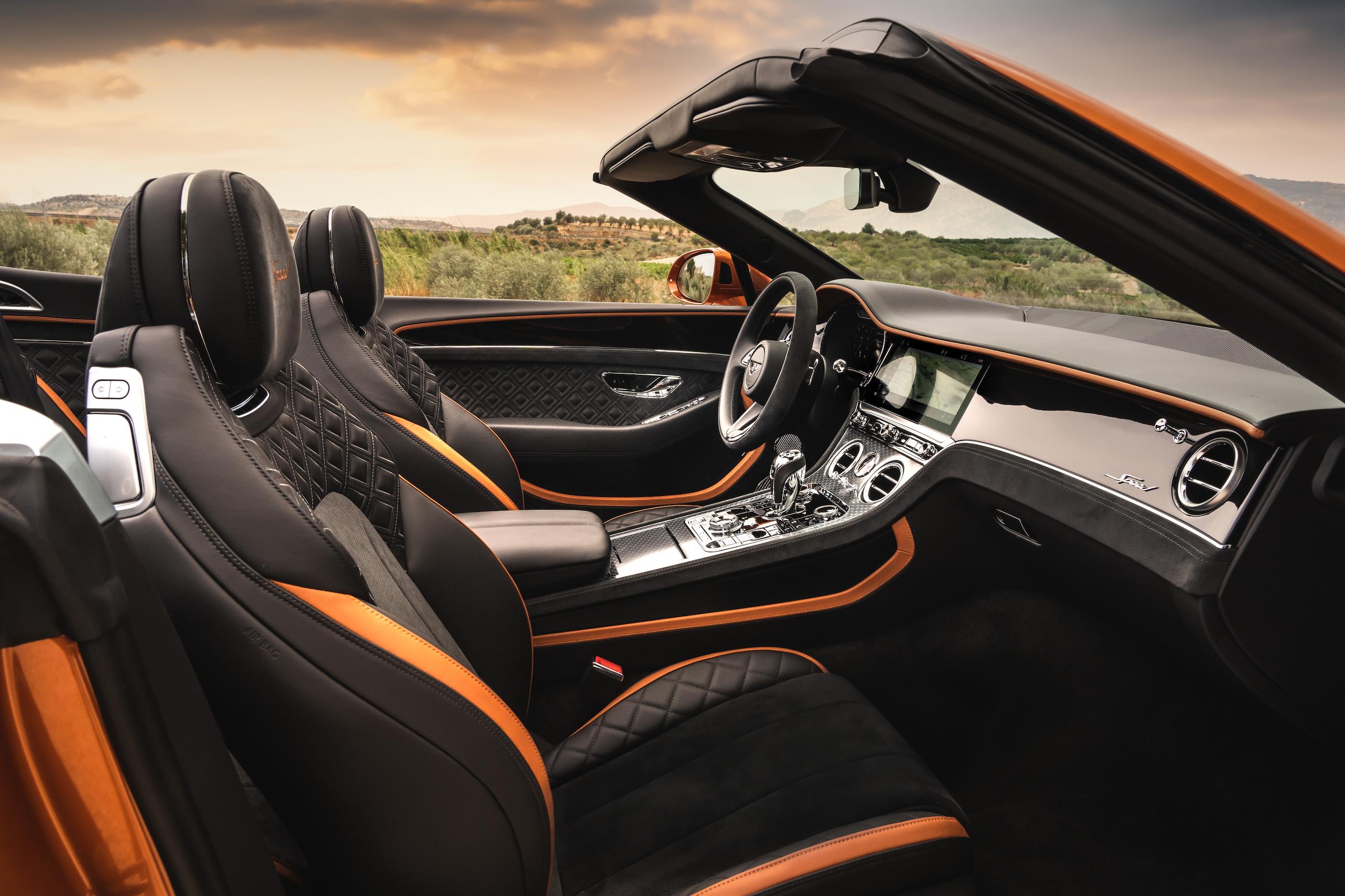 Bentley GT Speed Convertible interior side
