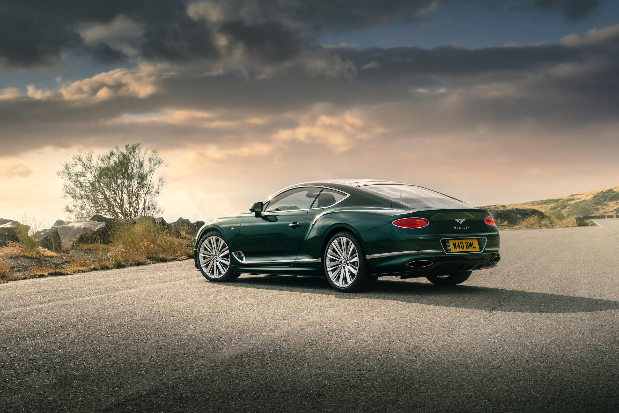 Bentley GT Speed Coupe rear three-quarter