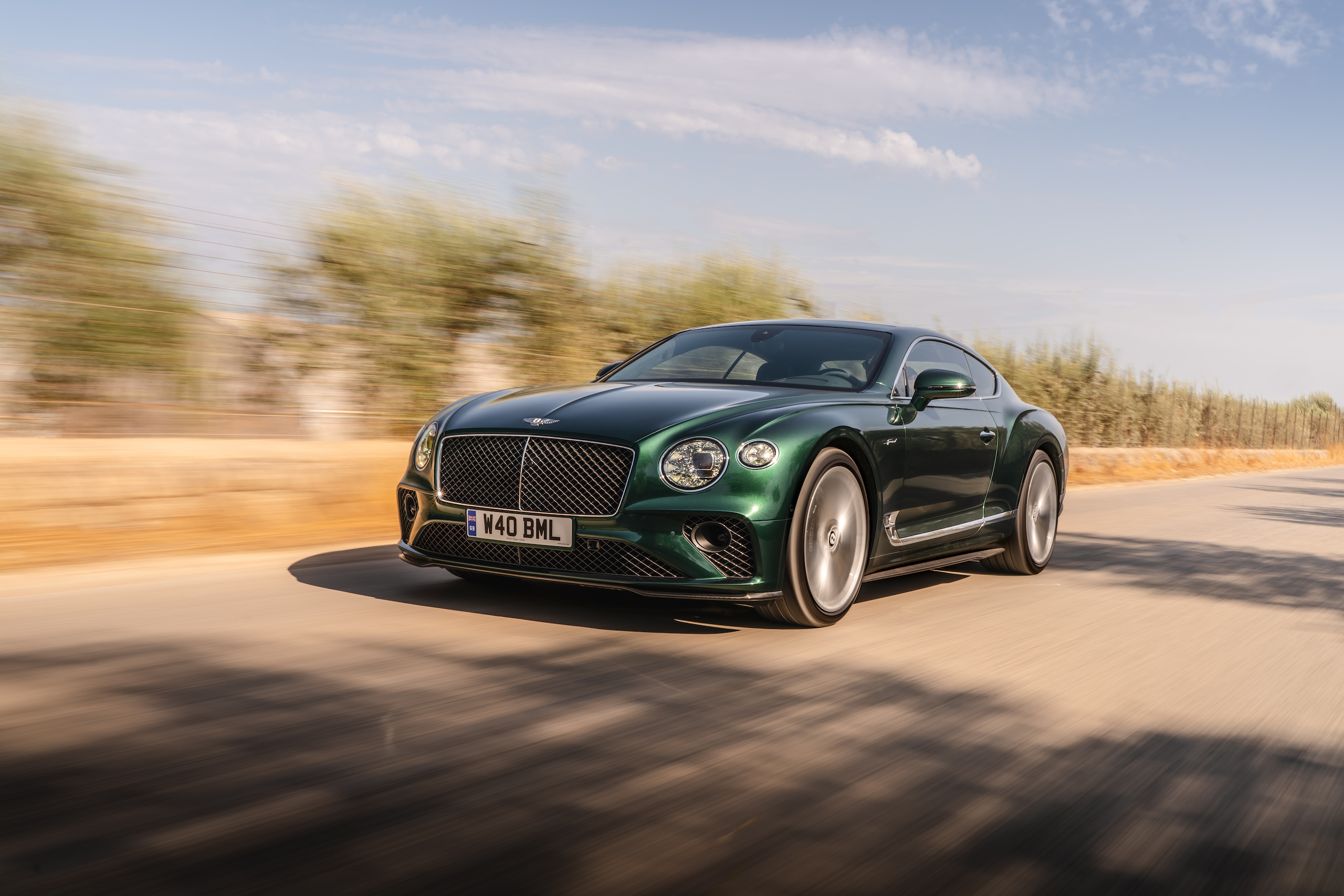 Bentley GT Speed Coupe front three-quarter action
