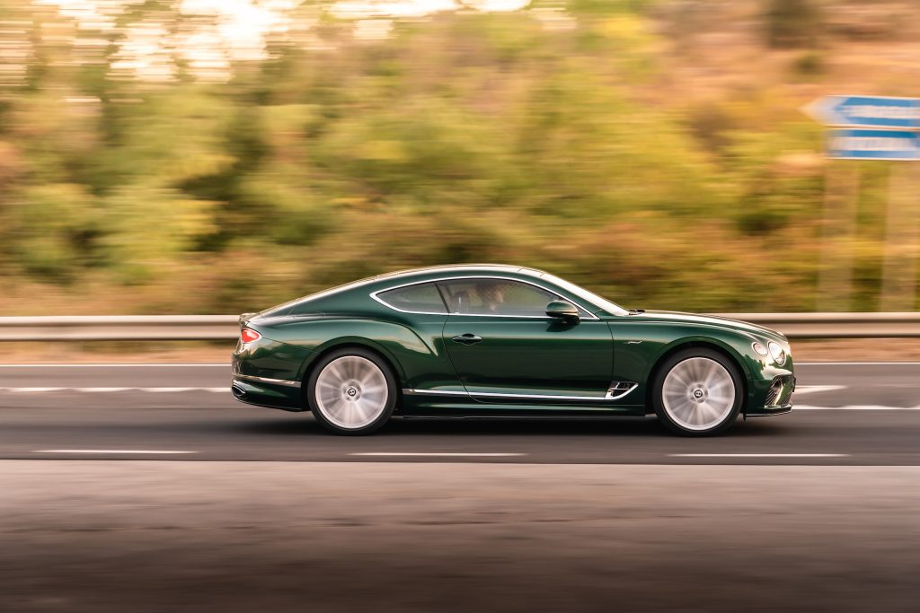 Bentley GT Speed Coupe side profile action