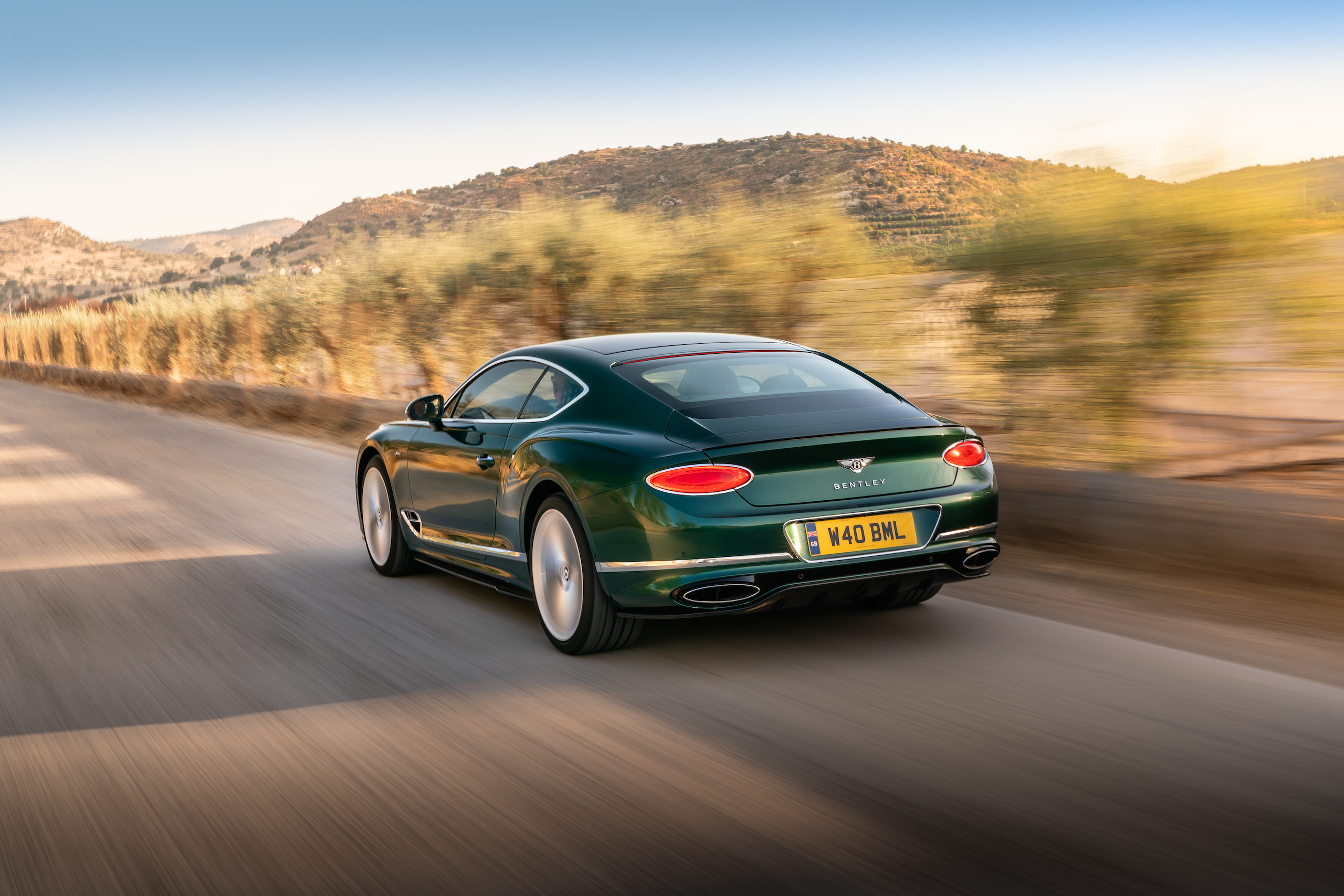Bentley GT Speed Coupe rear three-quarter action