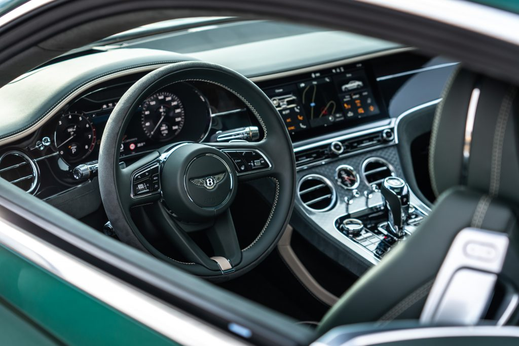 Bentley GT Speed Coupe interior through window