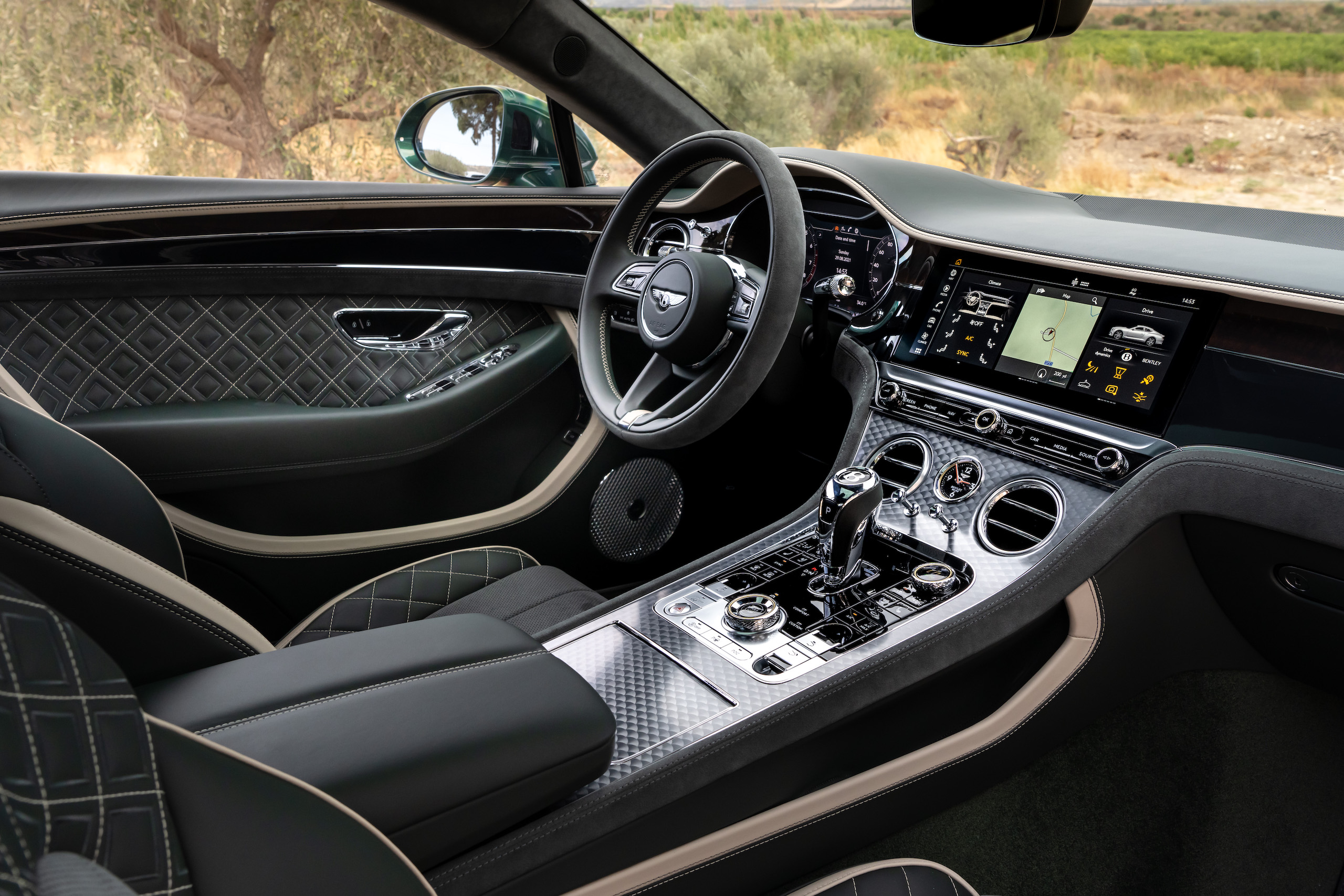 Bentley GT Speed Coupe interior angle