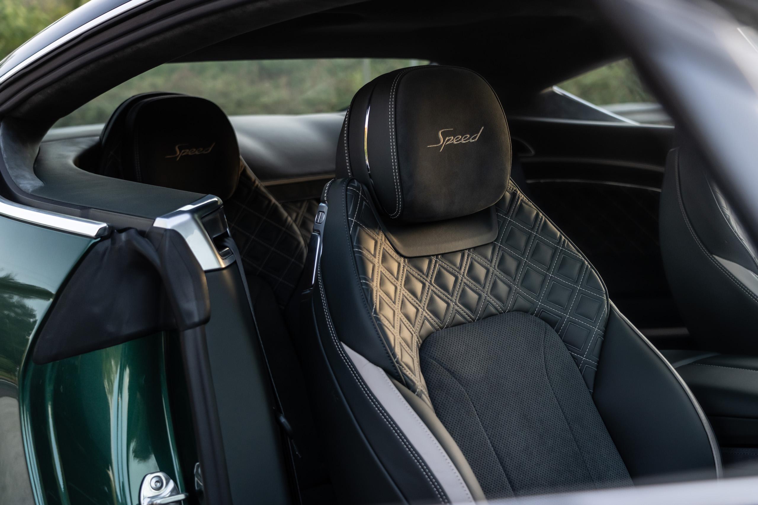 Bentley GT Speed Coupe interior seats