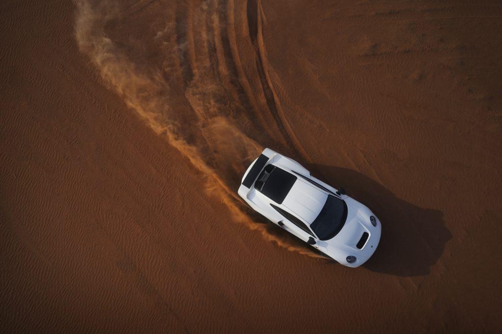Gemballa Marsien overhead dune drift action